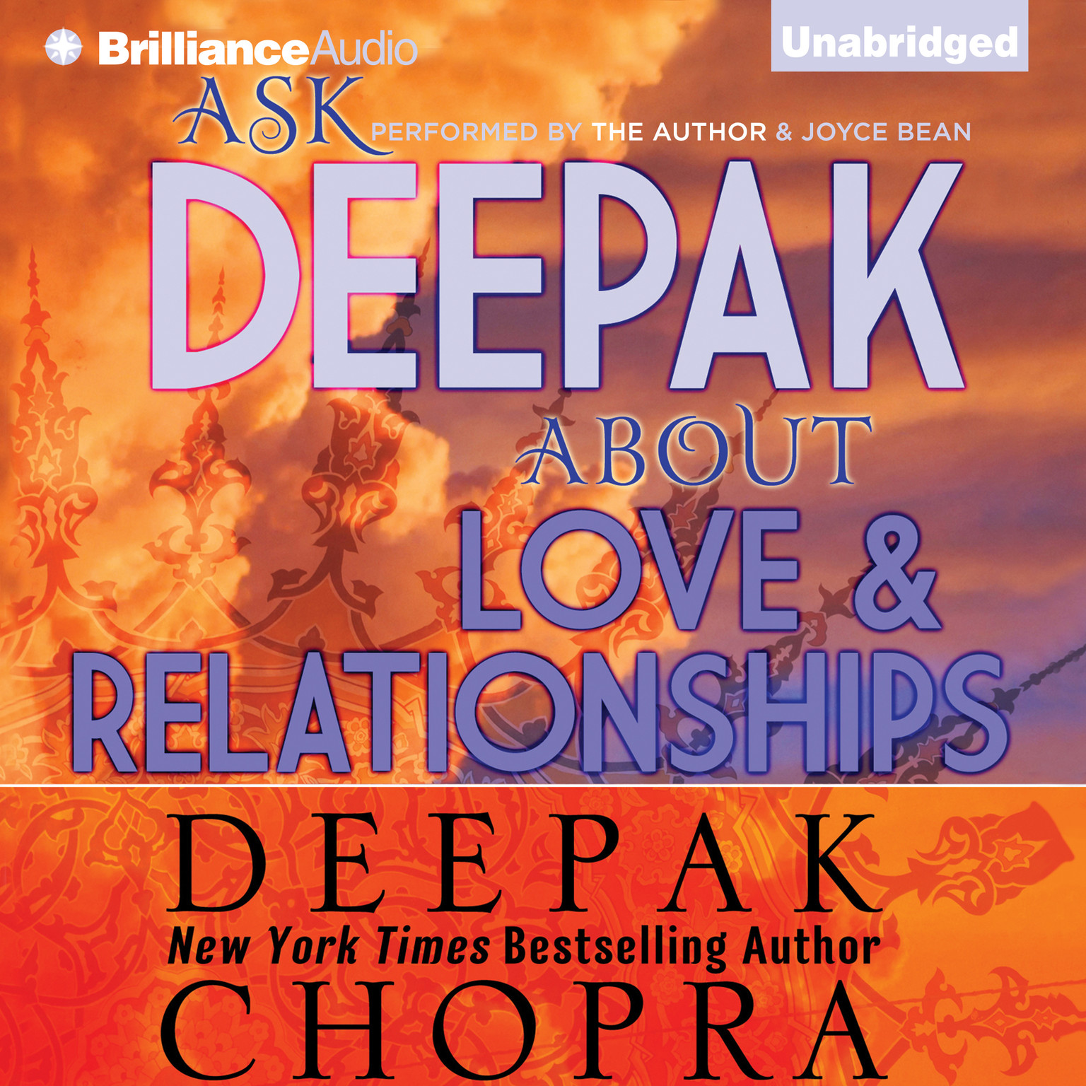 Printable Ask Deepak about Love and Relationships Audiobook Cover Art