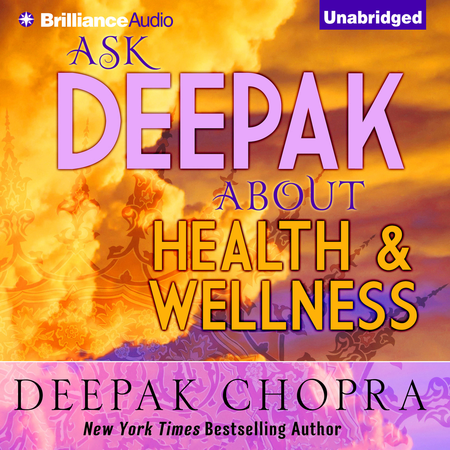 Printable Ask Deepak about Health and Wellness Audiobook Cover Art