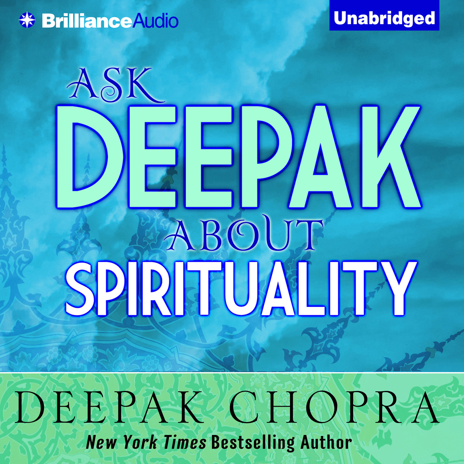 Printable Ask Deepak about Spirituality Audiobook Cover Art