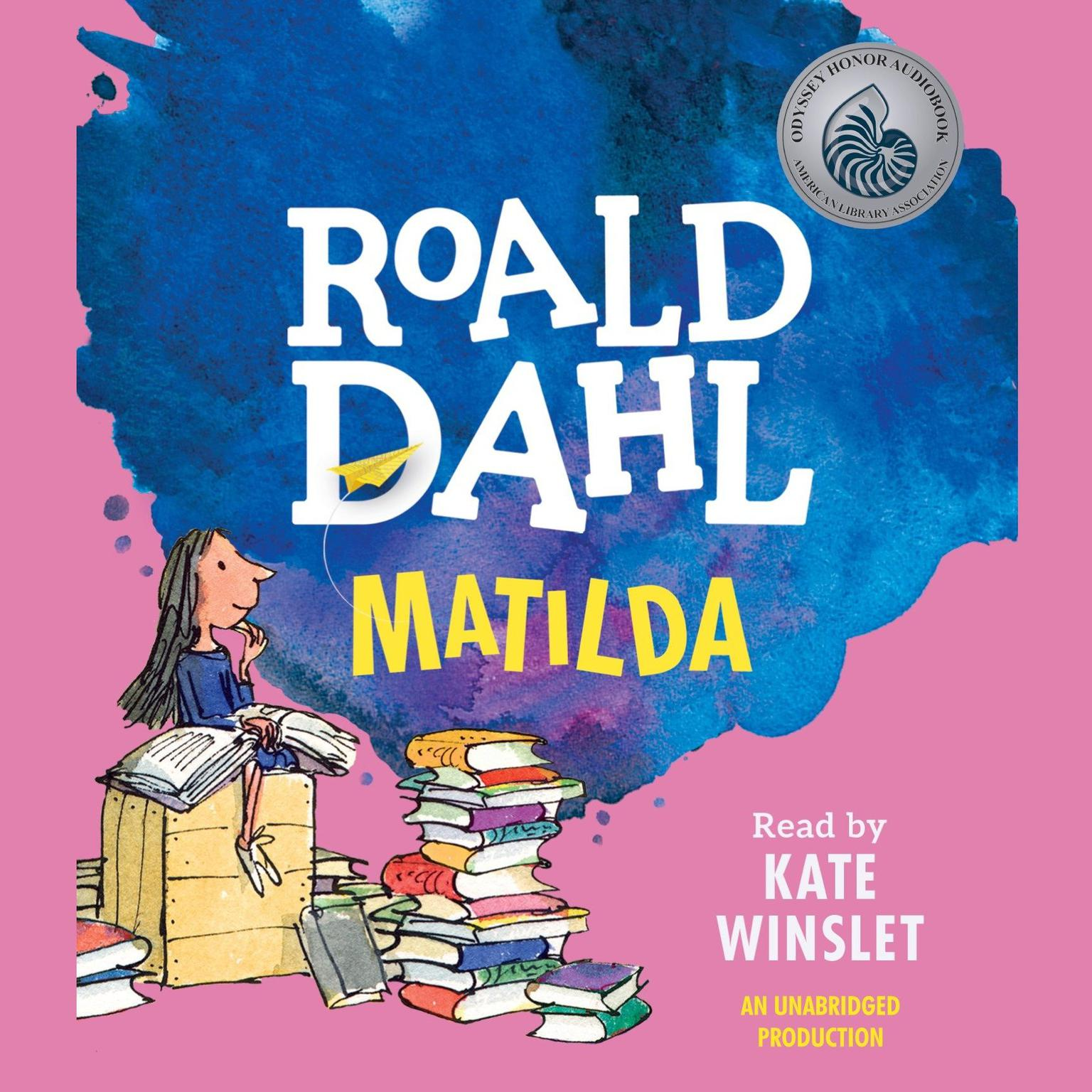 Printable Matilda Audiobook Cover Art