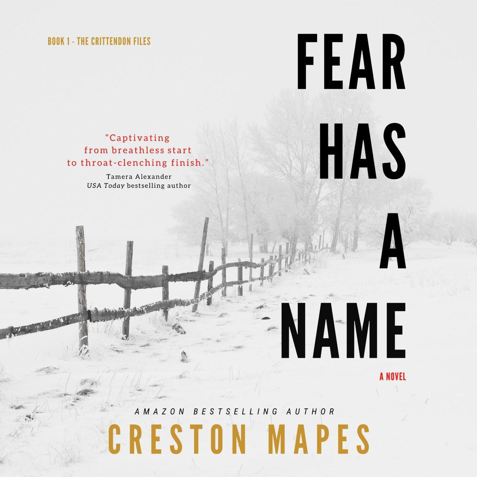 Printable Fear Has a Name Audiobook Cover Art