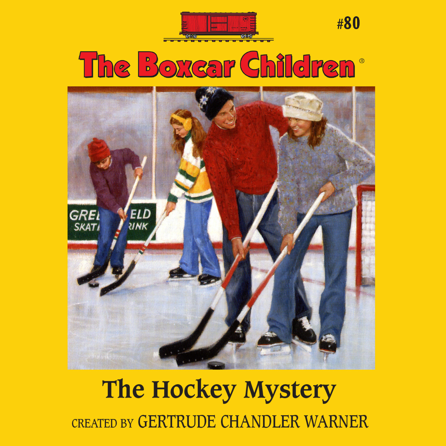 Printable The Hockey Mystery Audiobook Cover Art