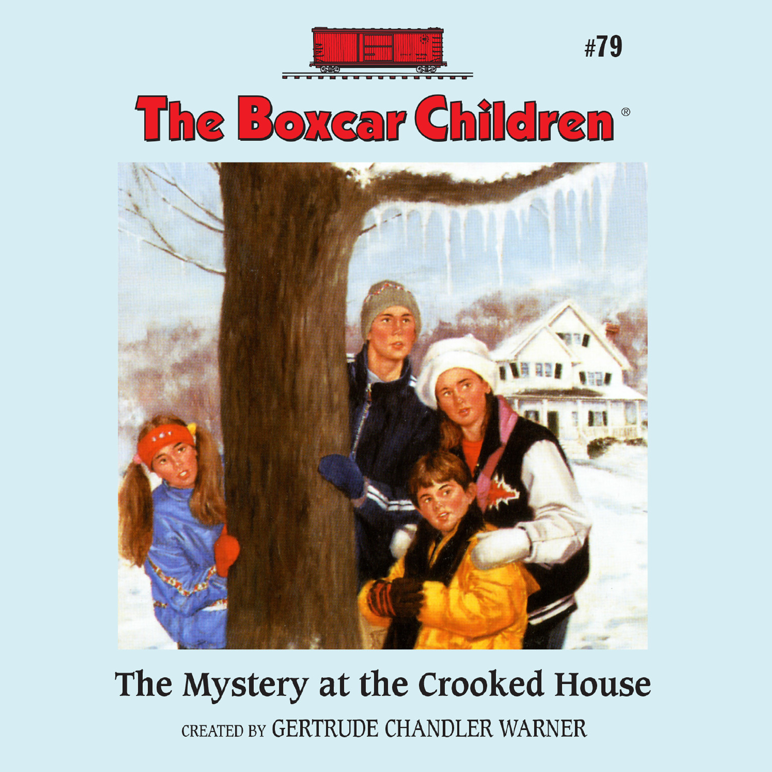 Printable The Mystery at the Crooked House Audiobook Cover Art