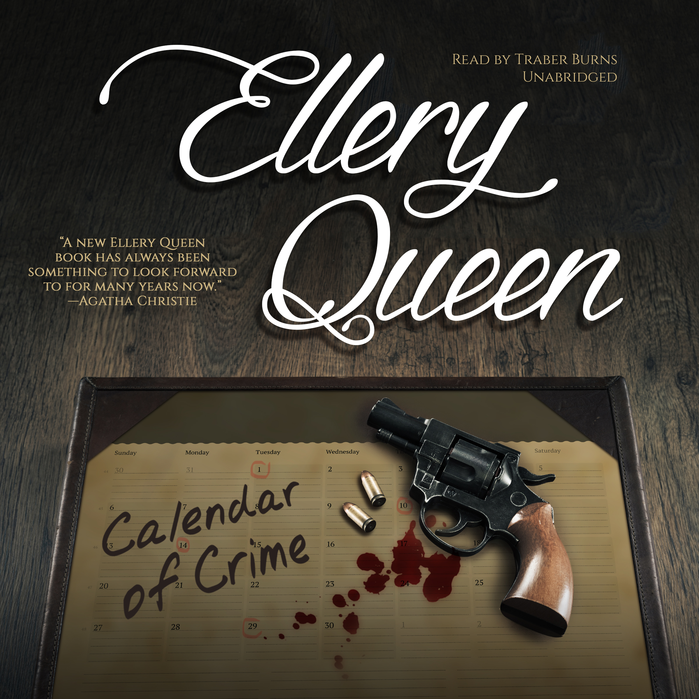 Printable Calendar of Crime Audiobook Cover Art