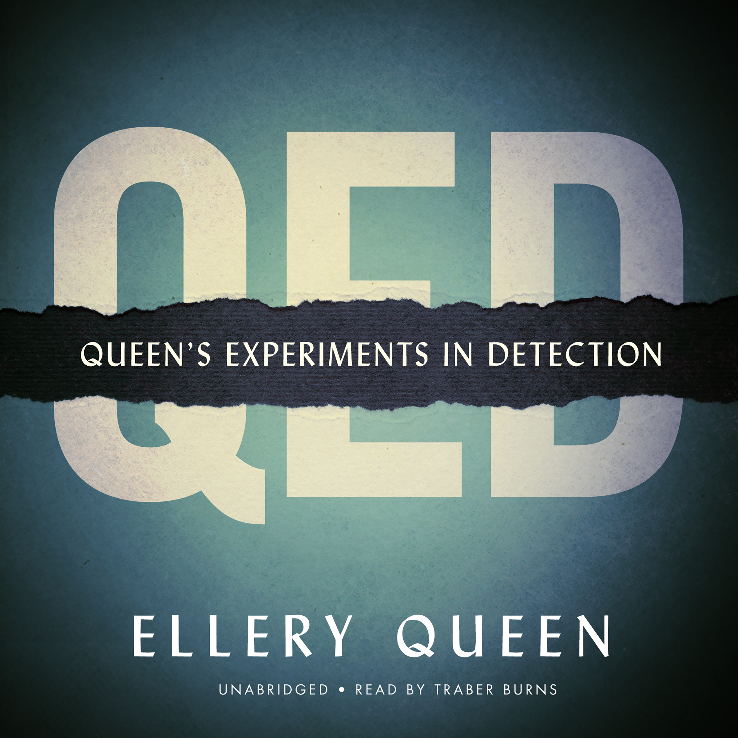 Printable QED: Queen's Experiments in Detection Audiobook Cover Art