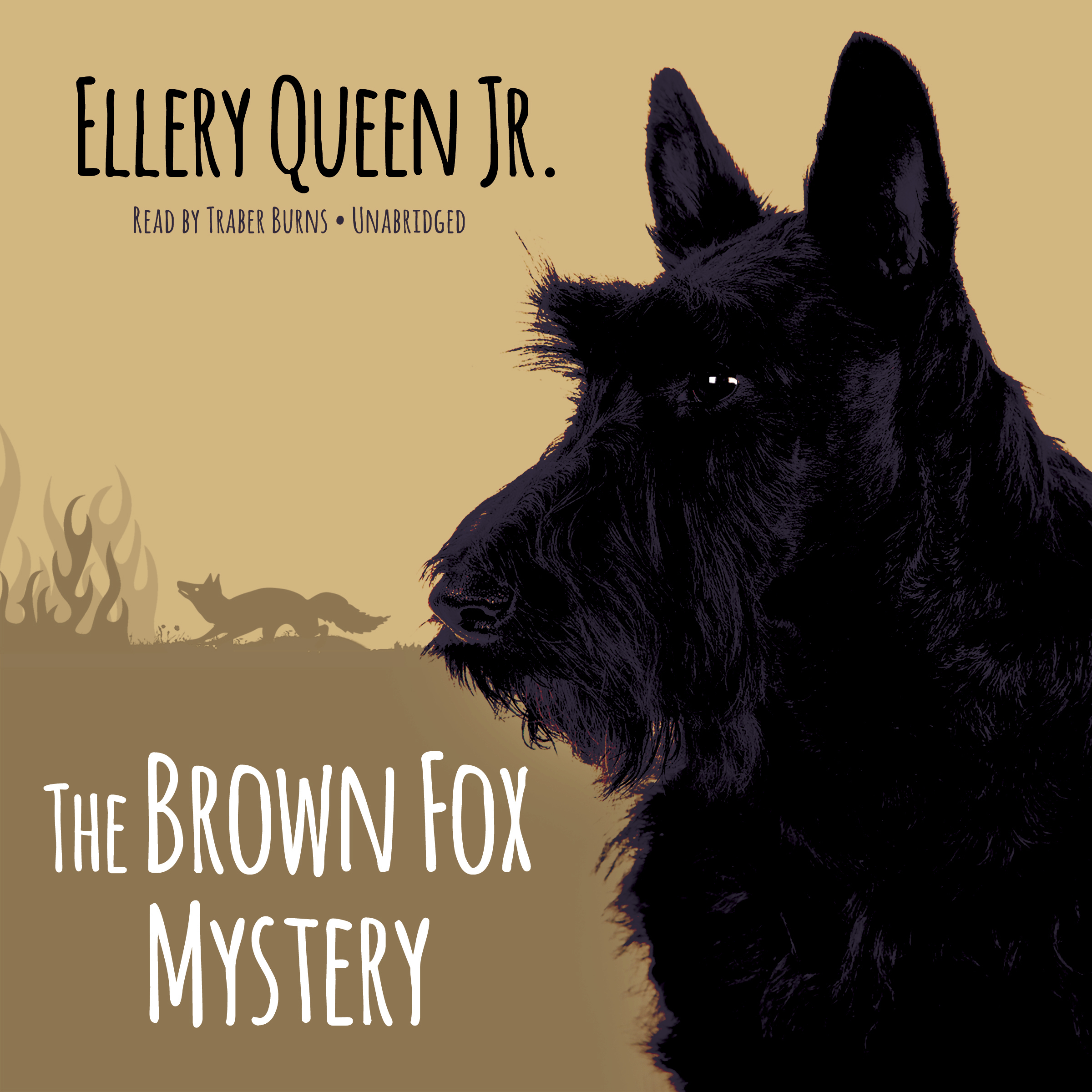 Printable The Brown Fox Mystery Audiobook Cover Art