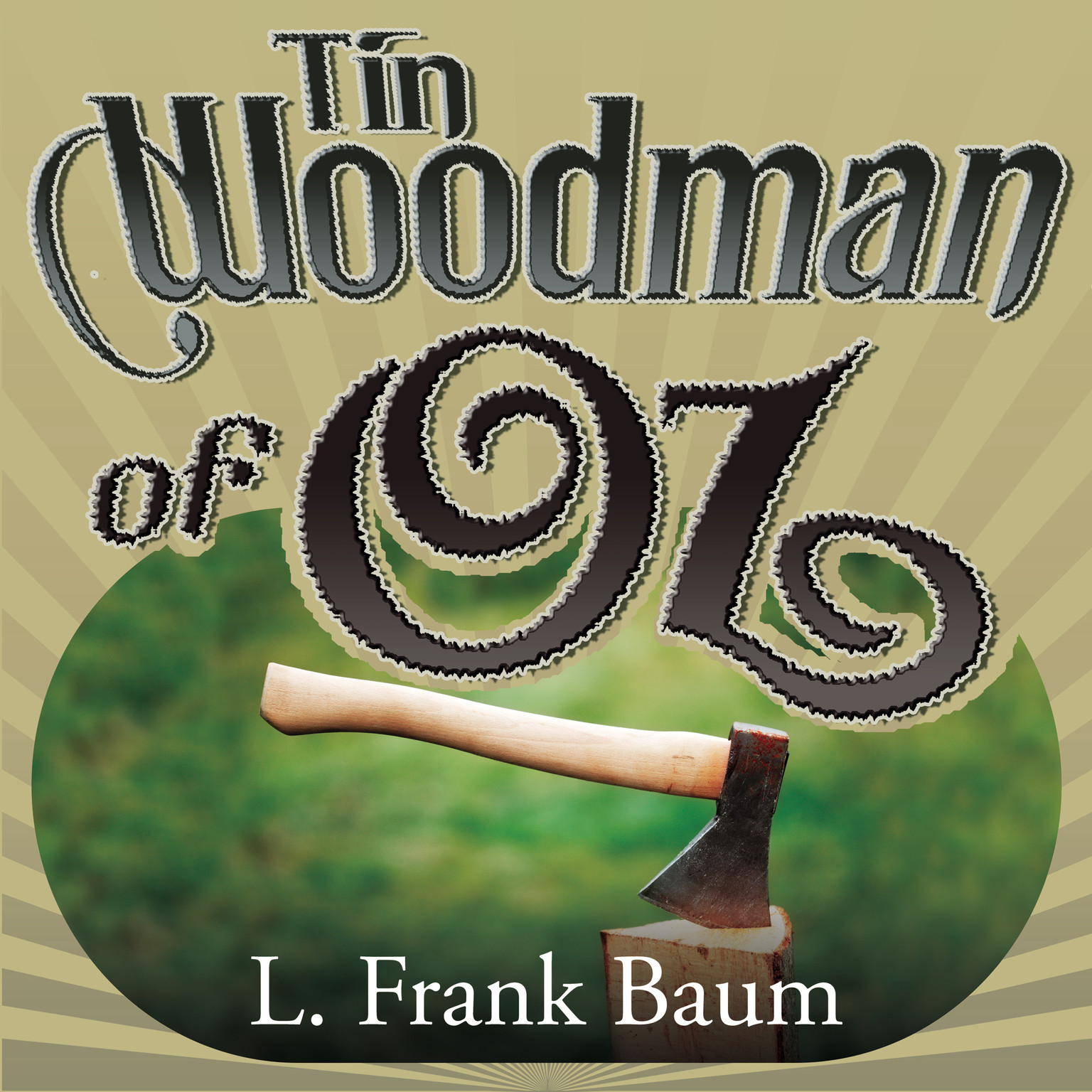 Printable Tin Woodman of Oz Audiobook Cover Art