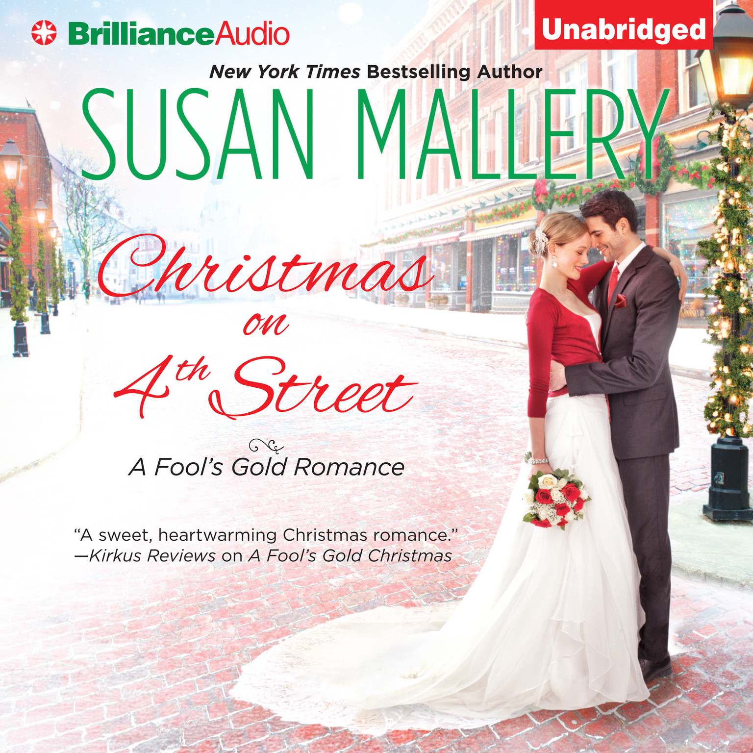 Printable Christmas on 4th Street Audiobook Cover Art