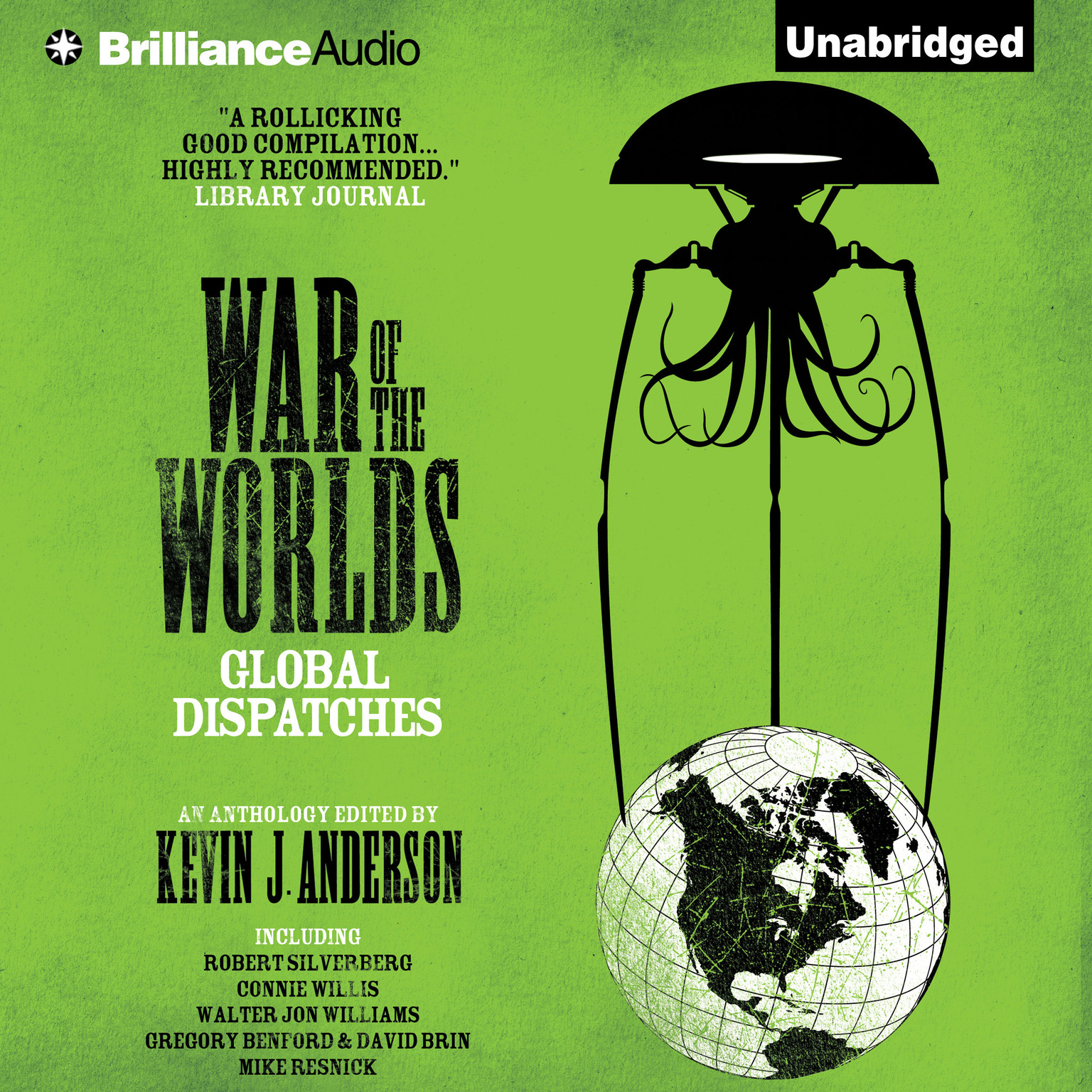 Printable War of the Worlds: Global Dispatches Audiobook Cover Art
