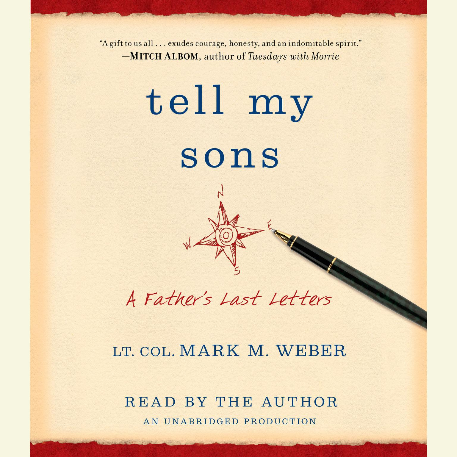 Printable Tell My Sons: A Father's Last Letters Audiobook Cover Art