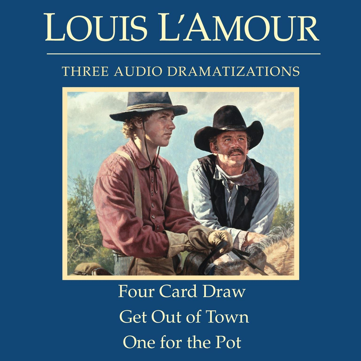 Printable Four Card Draw / Get Out of Town / One for the Pot Audiobook Cover Art
