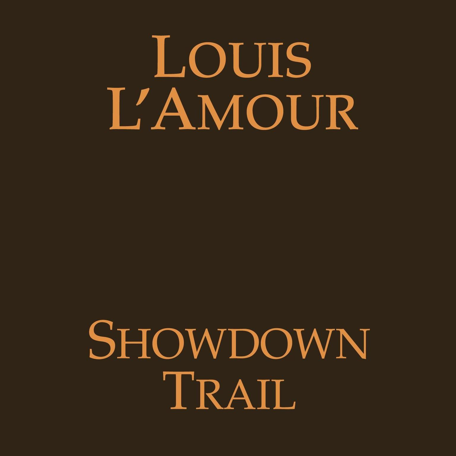 Printable Showdown Trail Audiobook Cover Art