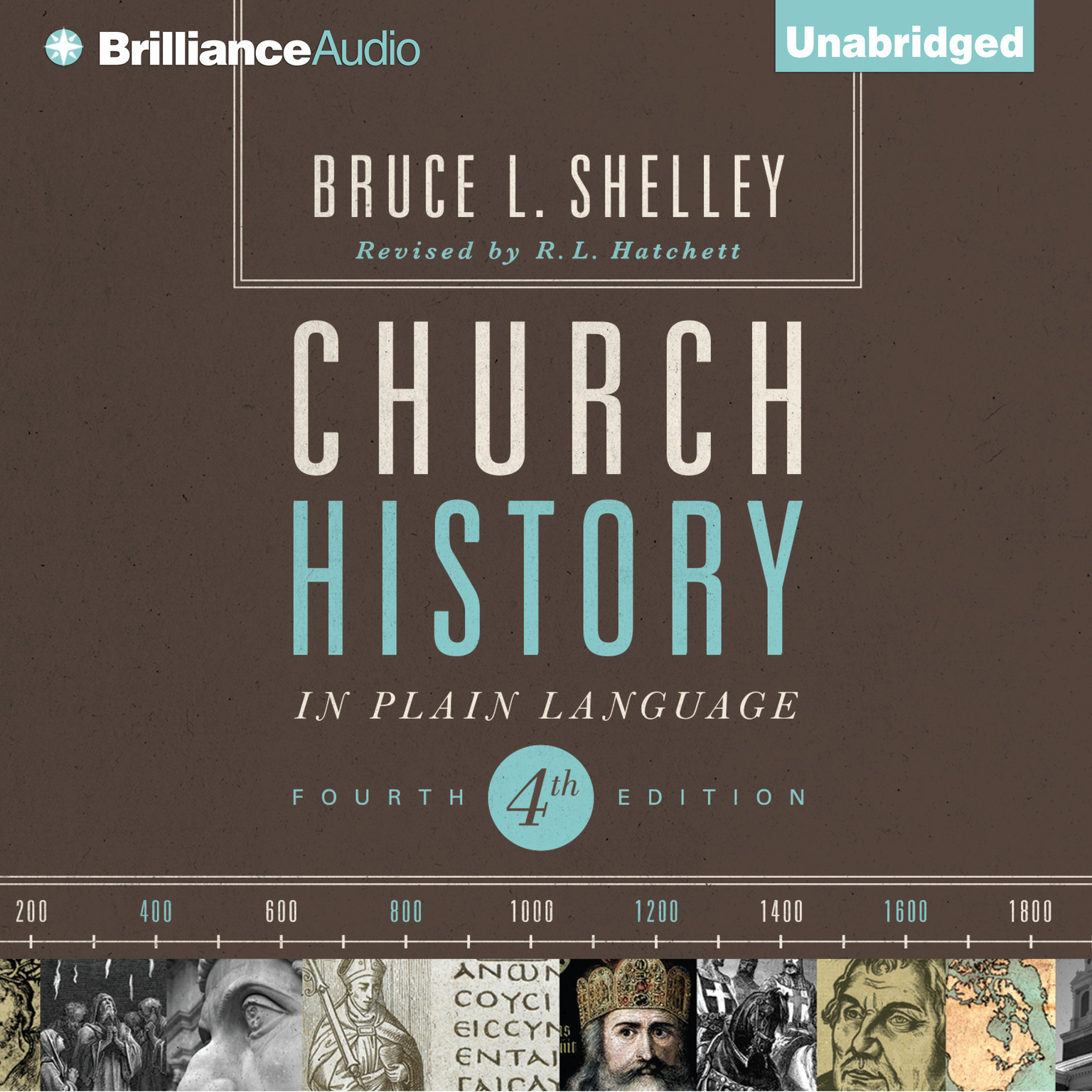 Printable Church History in Plain Language: Fourth Edition Audiobook Cover Art