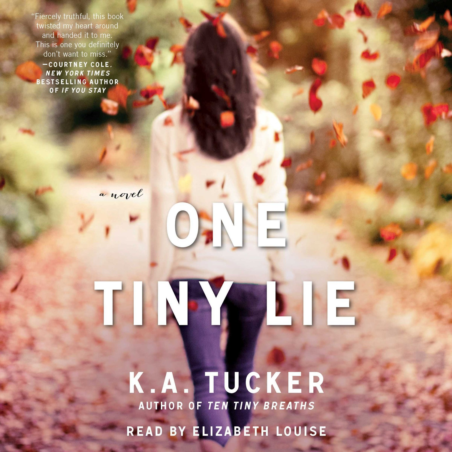 Printable One Tiny Lie: A Novel Audiobook Cover Art