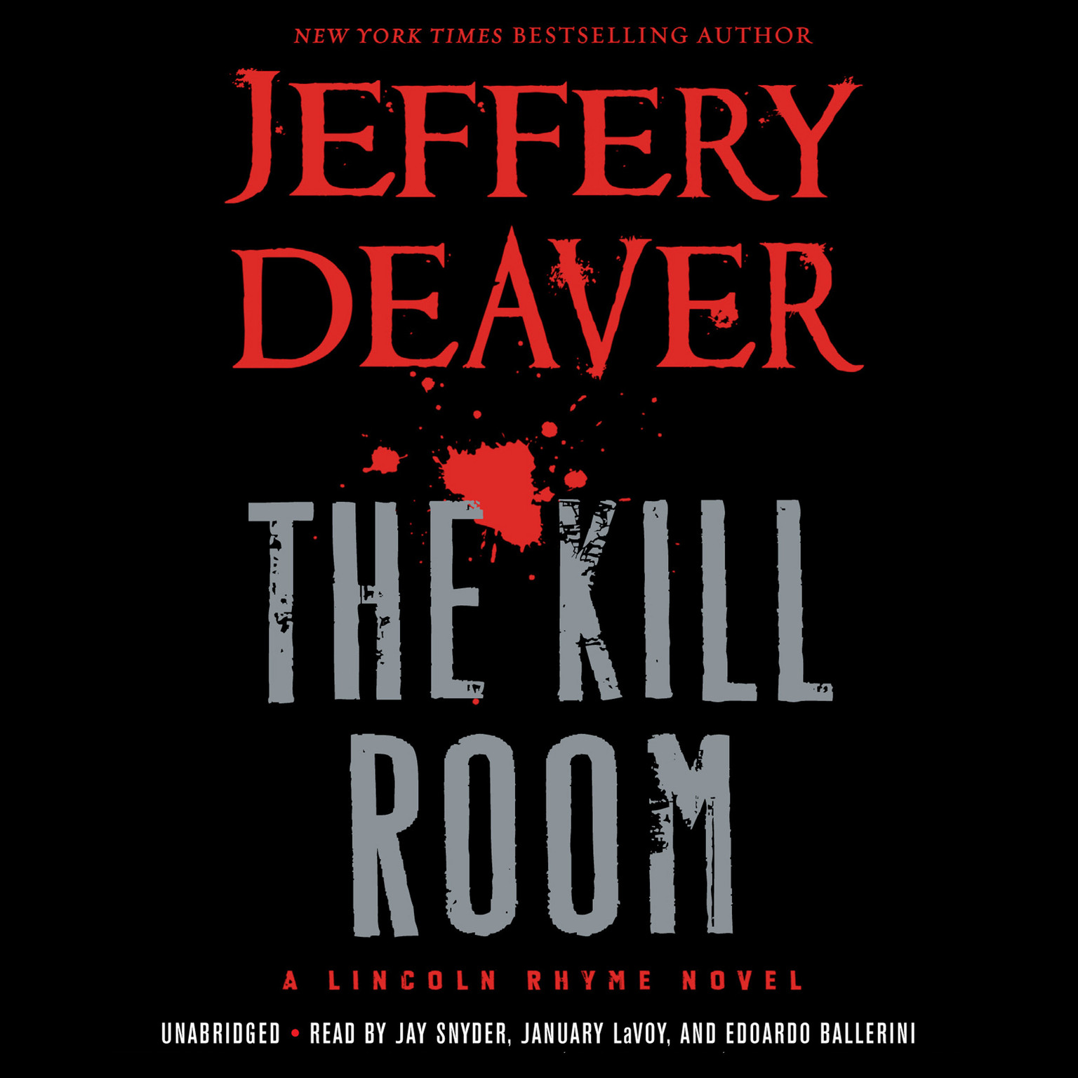 Printable The Kill Room Audiobook Cover Art
