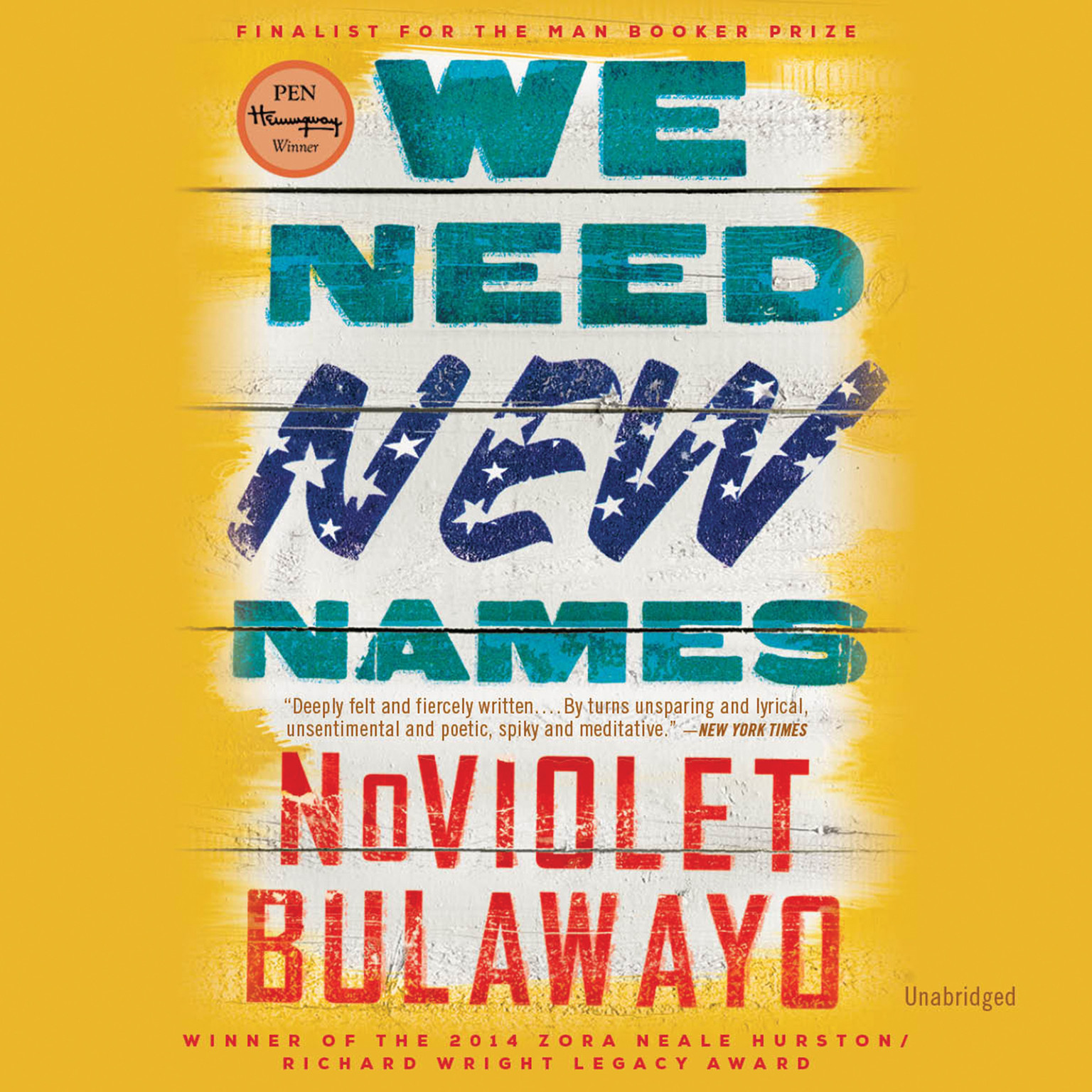 Printable We Need New Names Audiobook Cover Art