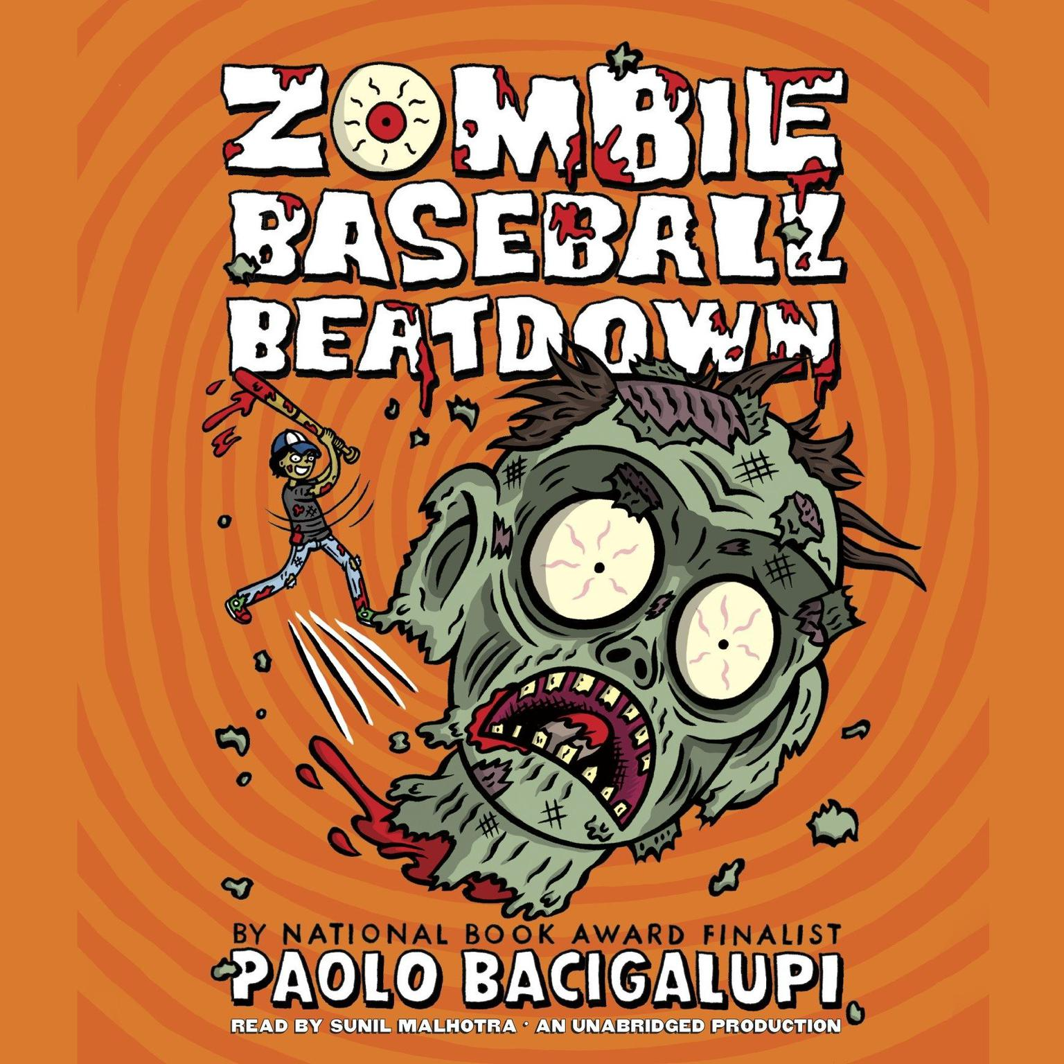 Printable Zombie Baseball Beatdown Audiobook Cover Art