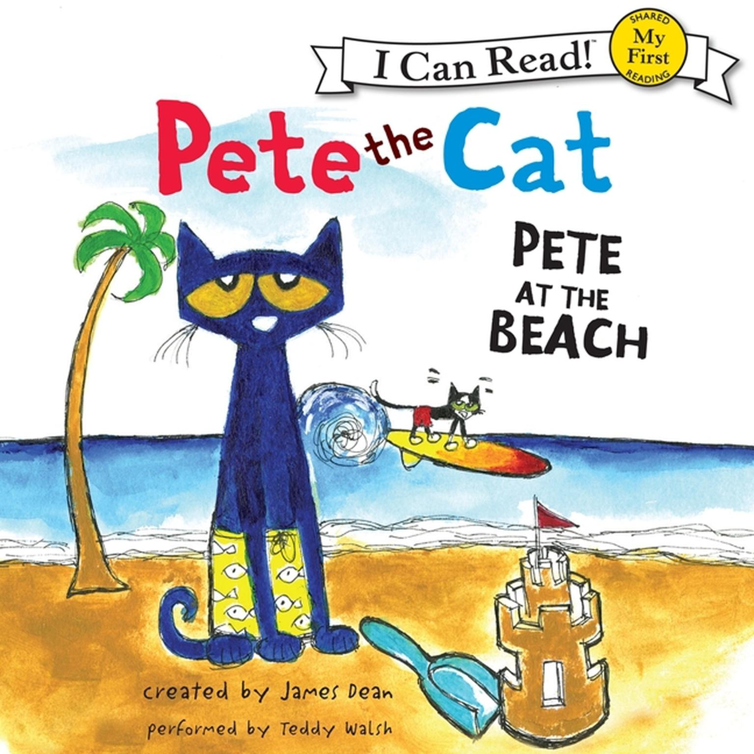 Printable Pete the Cat: Pete at the Beach Audiobook Cover Art