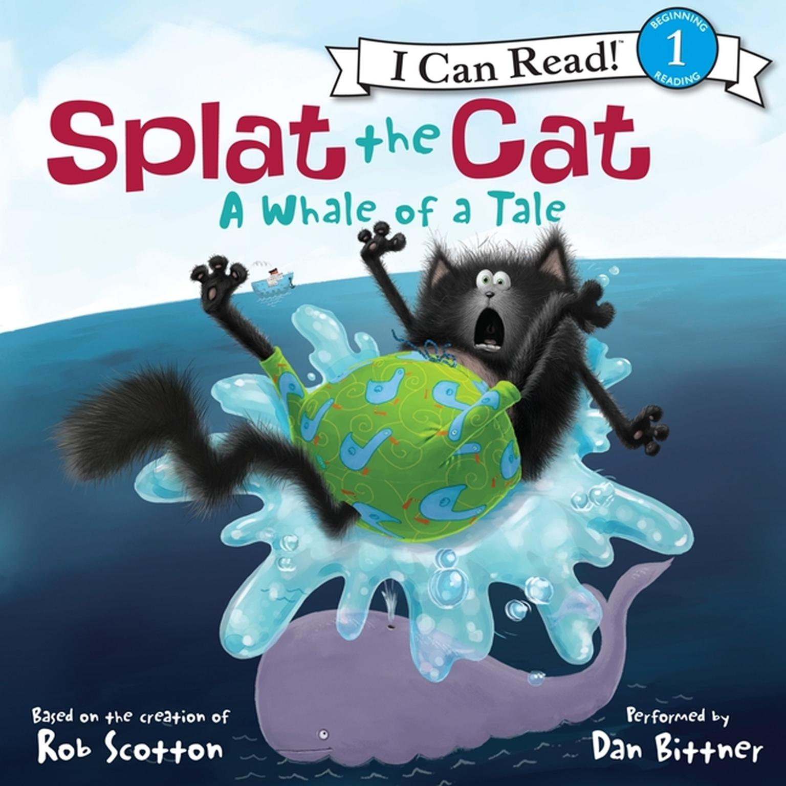 Printable Splat the Cat: A Whale of a Tale Audiobook Cover Art