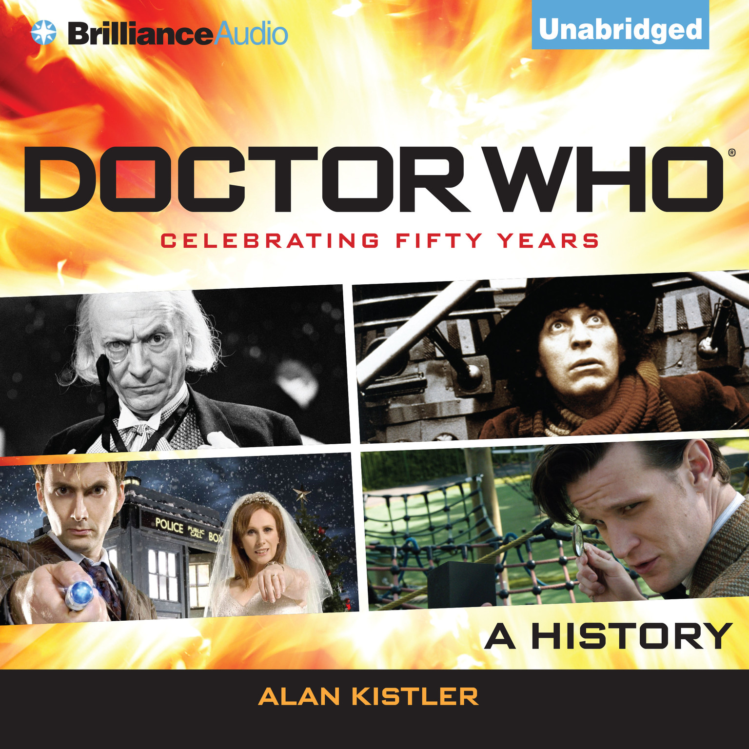 Printable Doctor Who: A History Audiobook Cover Art