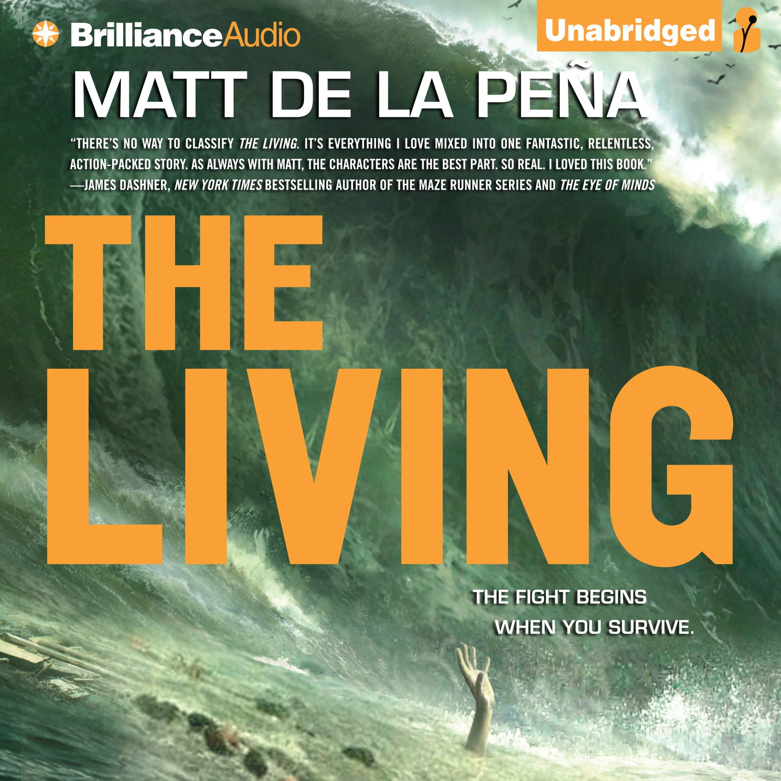 Printable The Living Audiobook Cover Art