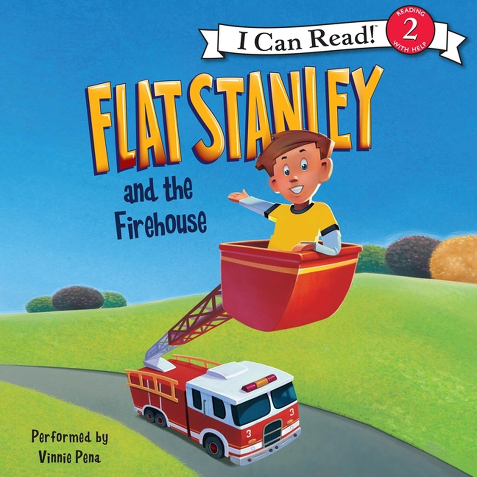 Printable Flat Stanley and the Firehouse: I Can Read Level 2 Audiobook Cover Art