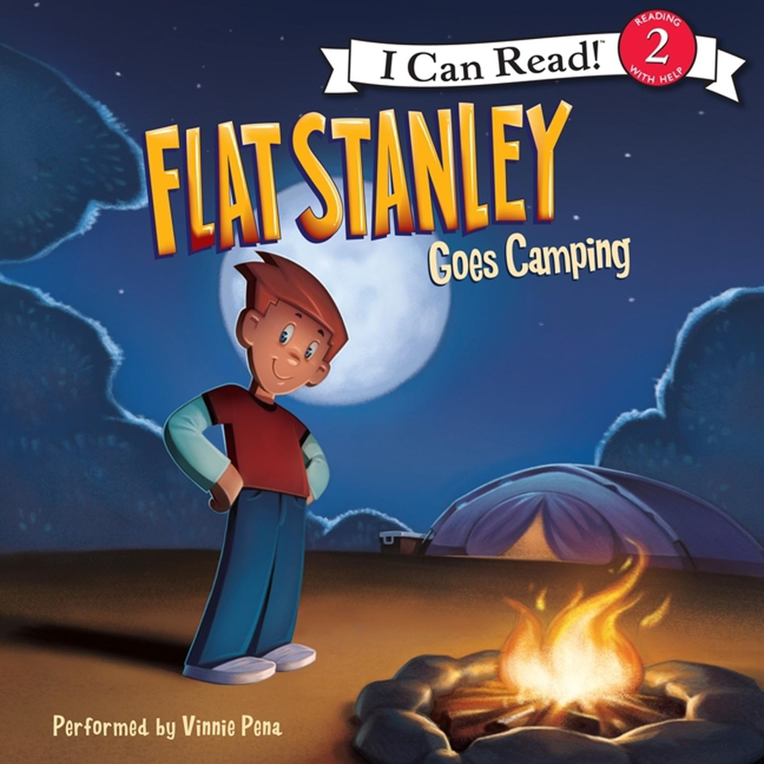 Printable Flat Stanley Goes Camping Audiobook Cover Art