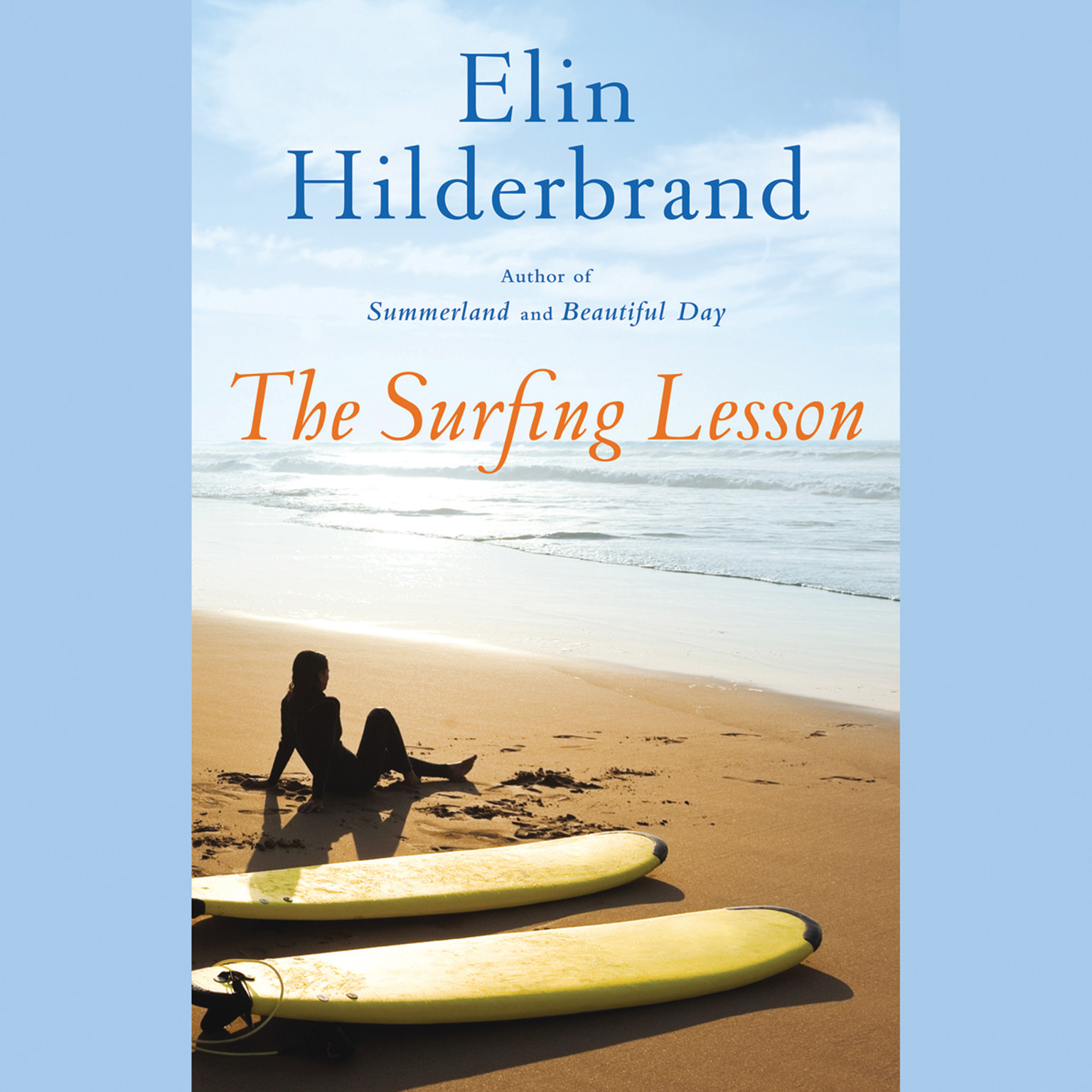 Printable The Surfing Lesson Audiobook Cover Art