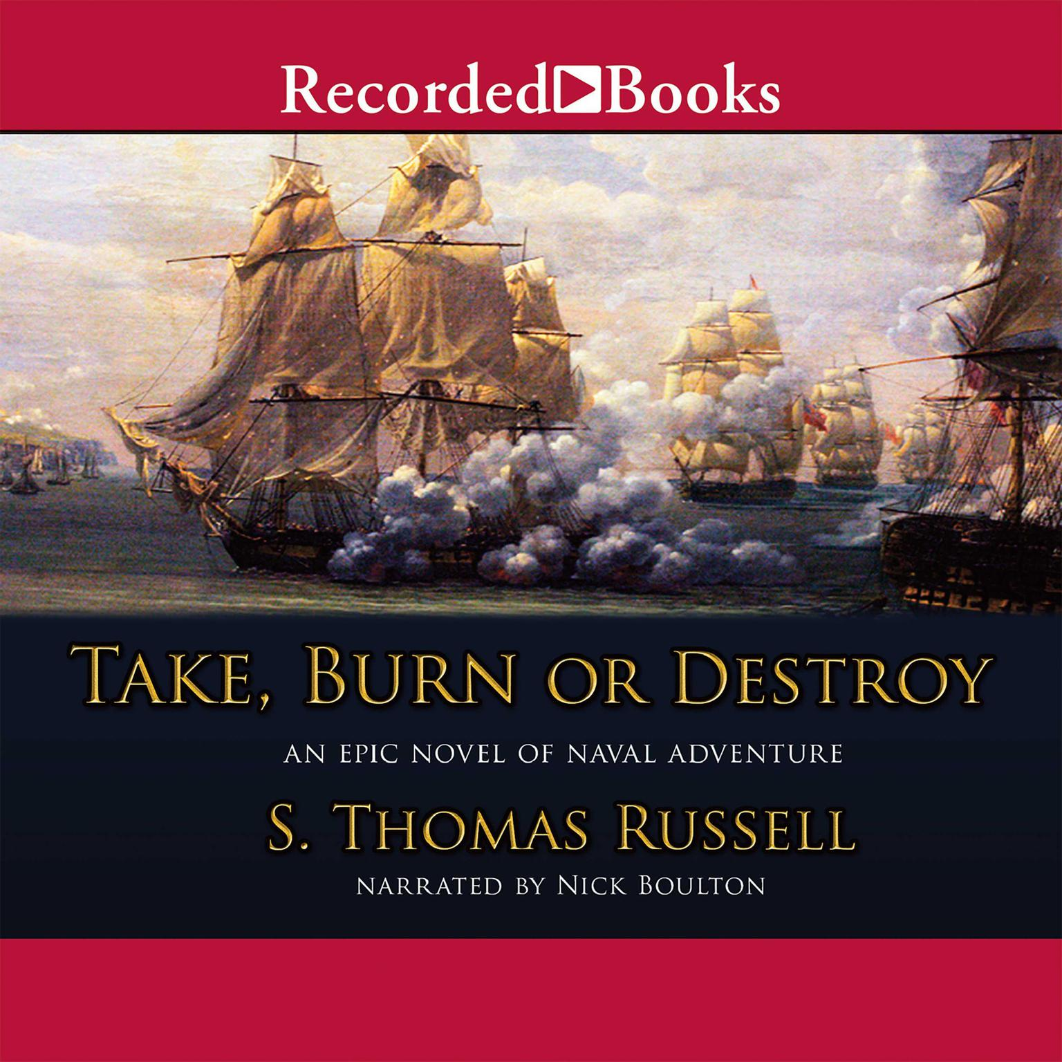 Printable Take, Burn, or Destroy Audiobook Cover Art