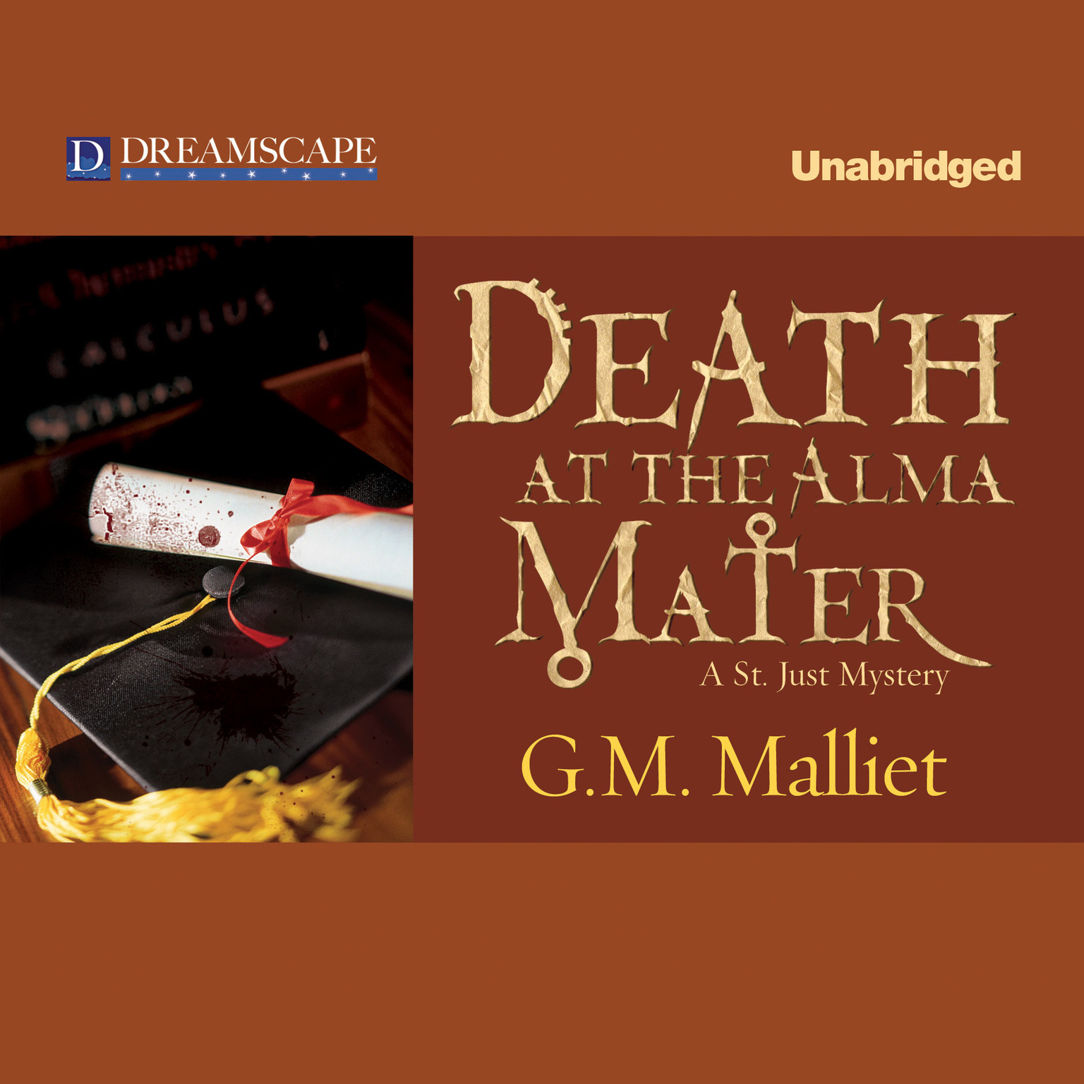 Printable Death at the Alma Mater Audiobook Cover Art