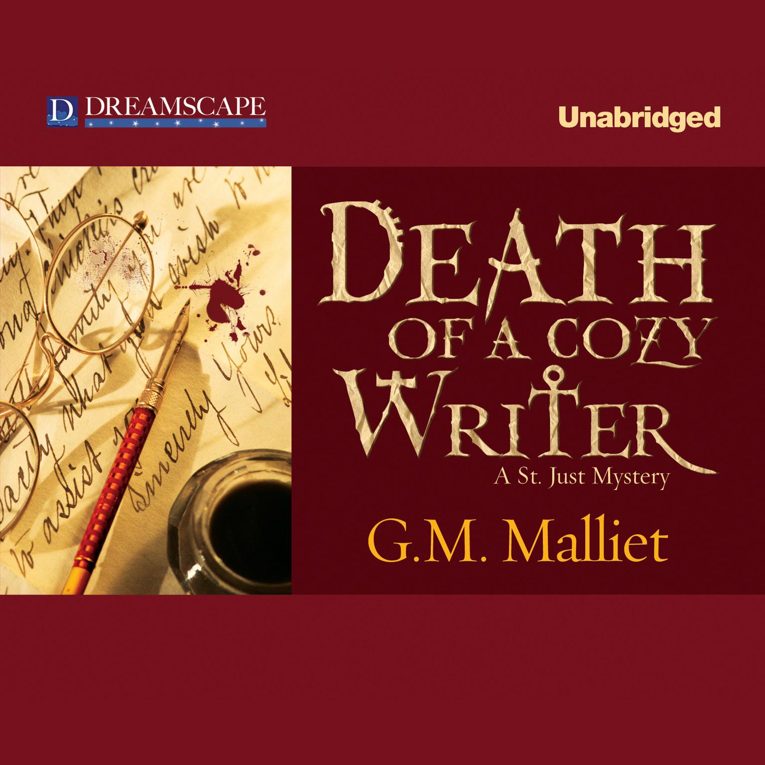 Printable Death of a Cozy Writer Audiobook Cover Art