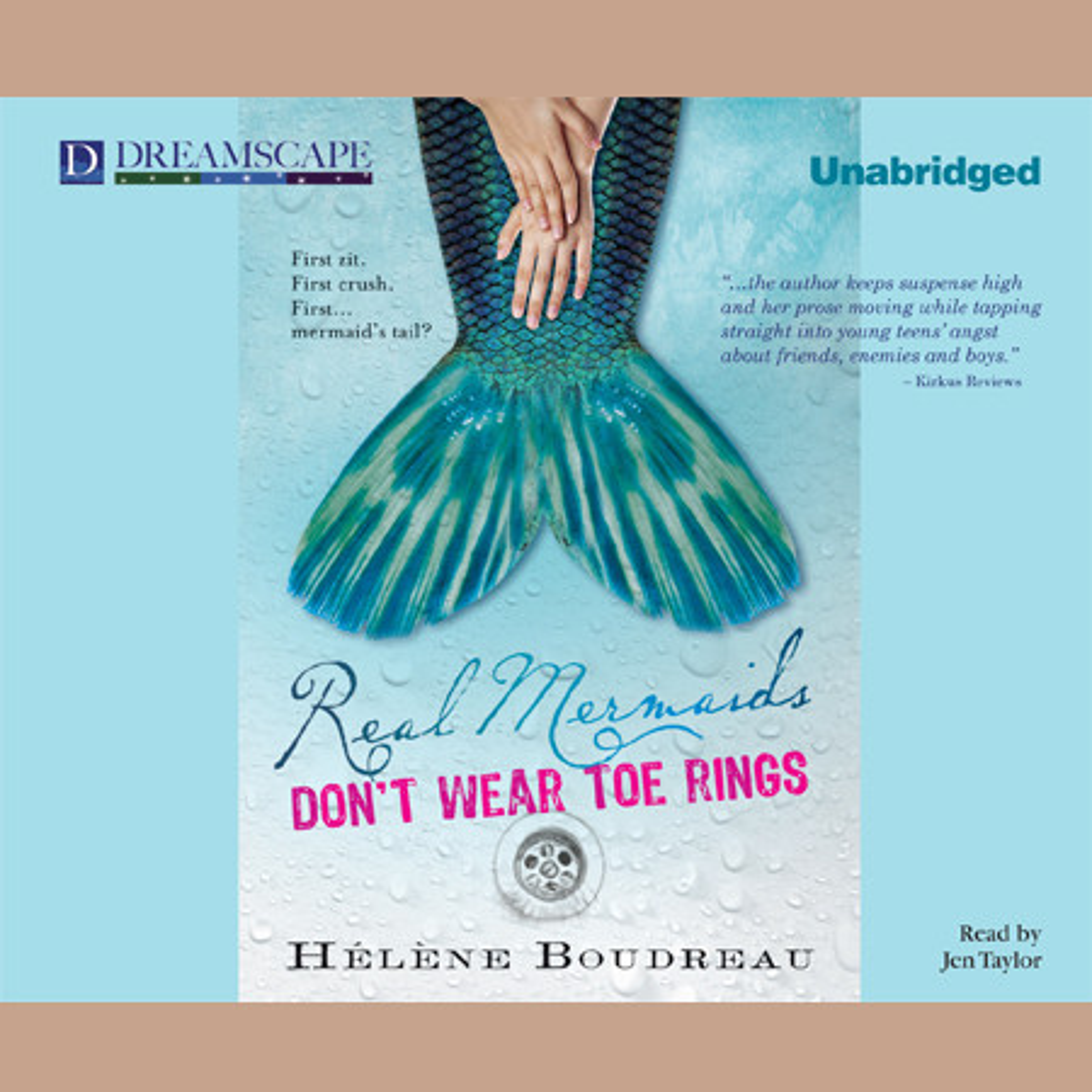 Printable Real Mermaids Don't Wear Toe Rings Audiobook Cover Art