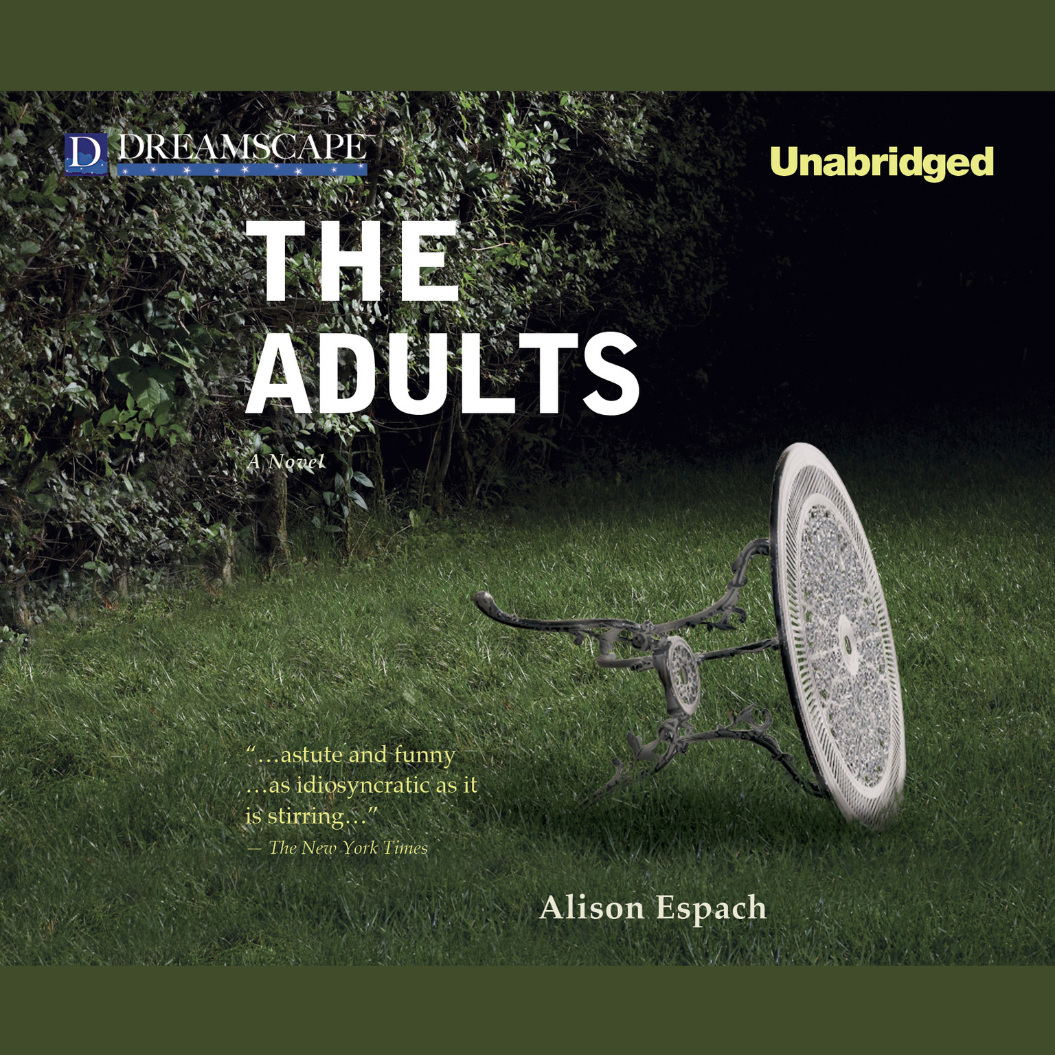 Printable The Adults Audiobook Cover Art