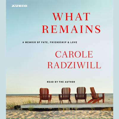 Printable What Remains: A Memoir of Fate, Friendship, and Love Audiobook Cover Art
