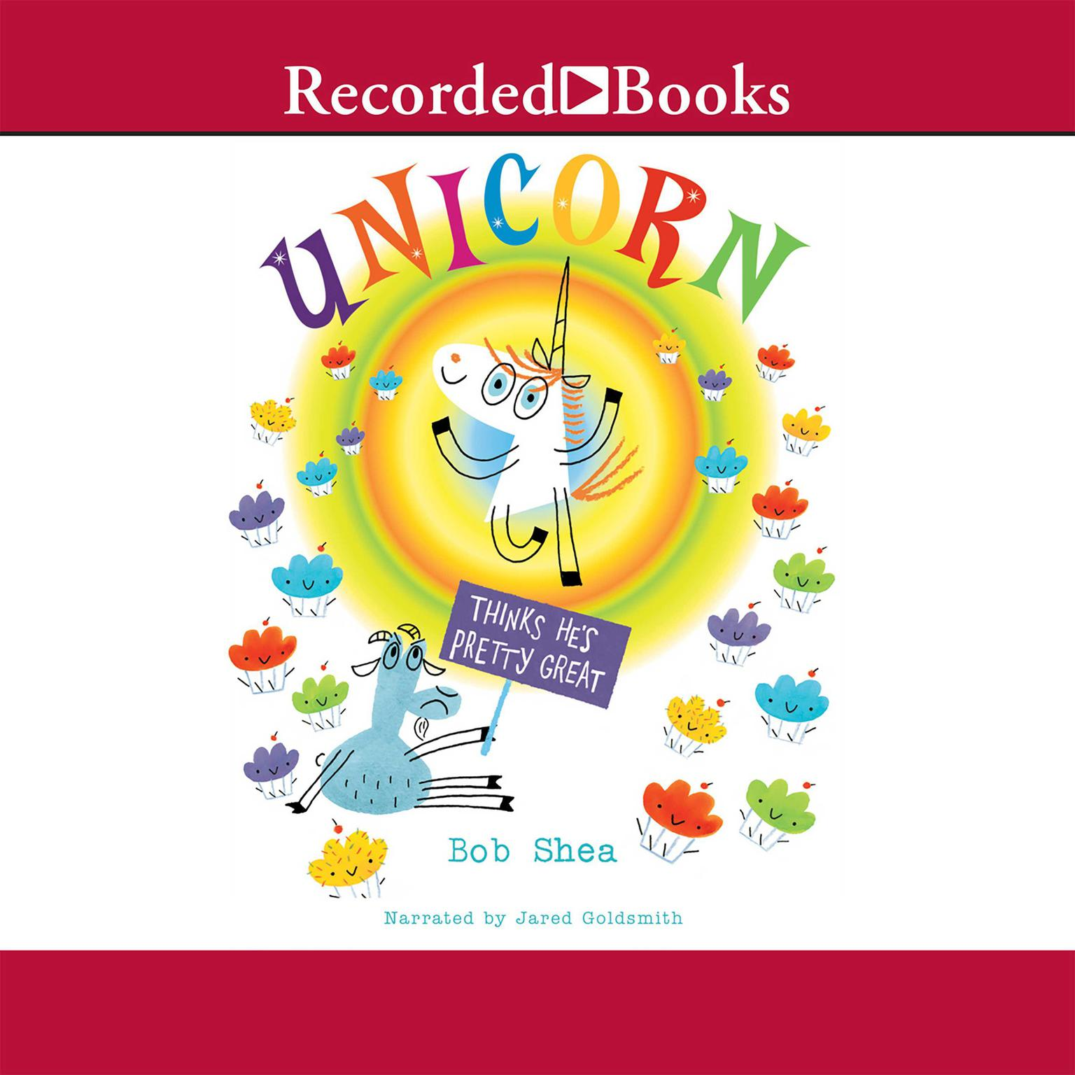Printable Unicorn Thinks He's Pretty Great Audiobook Cover Art
