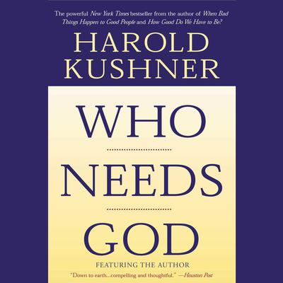 Printable Who Needs God Audiobook Cover Art