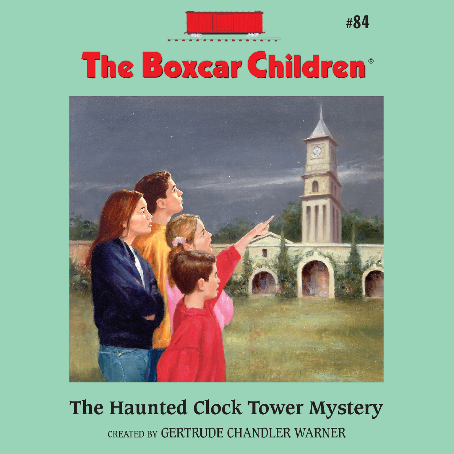 Printable The Haunted Clock Tower Mystery Audiobook Cover Art