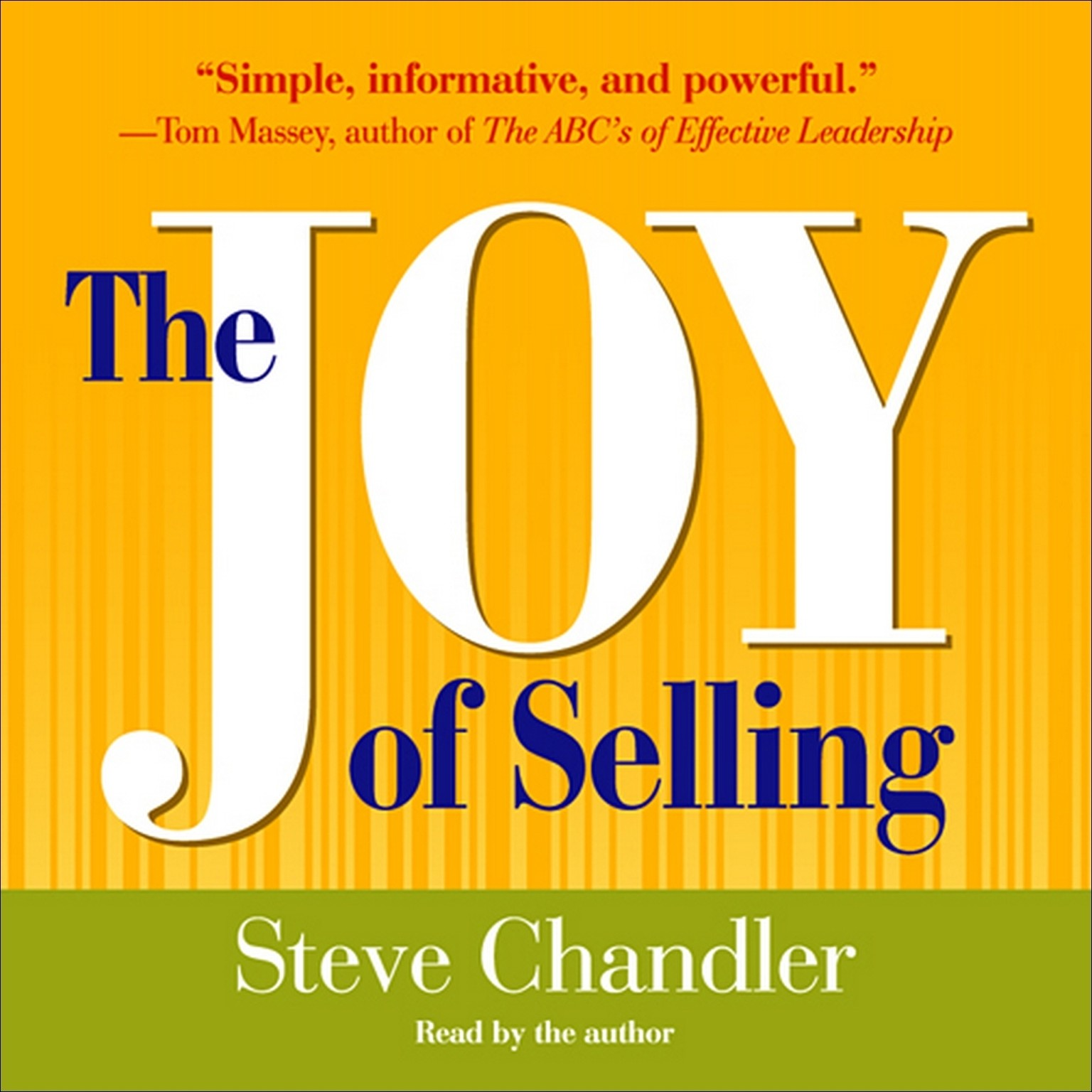Printable The Joy of Selling Audiobook Cover Art