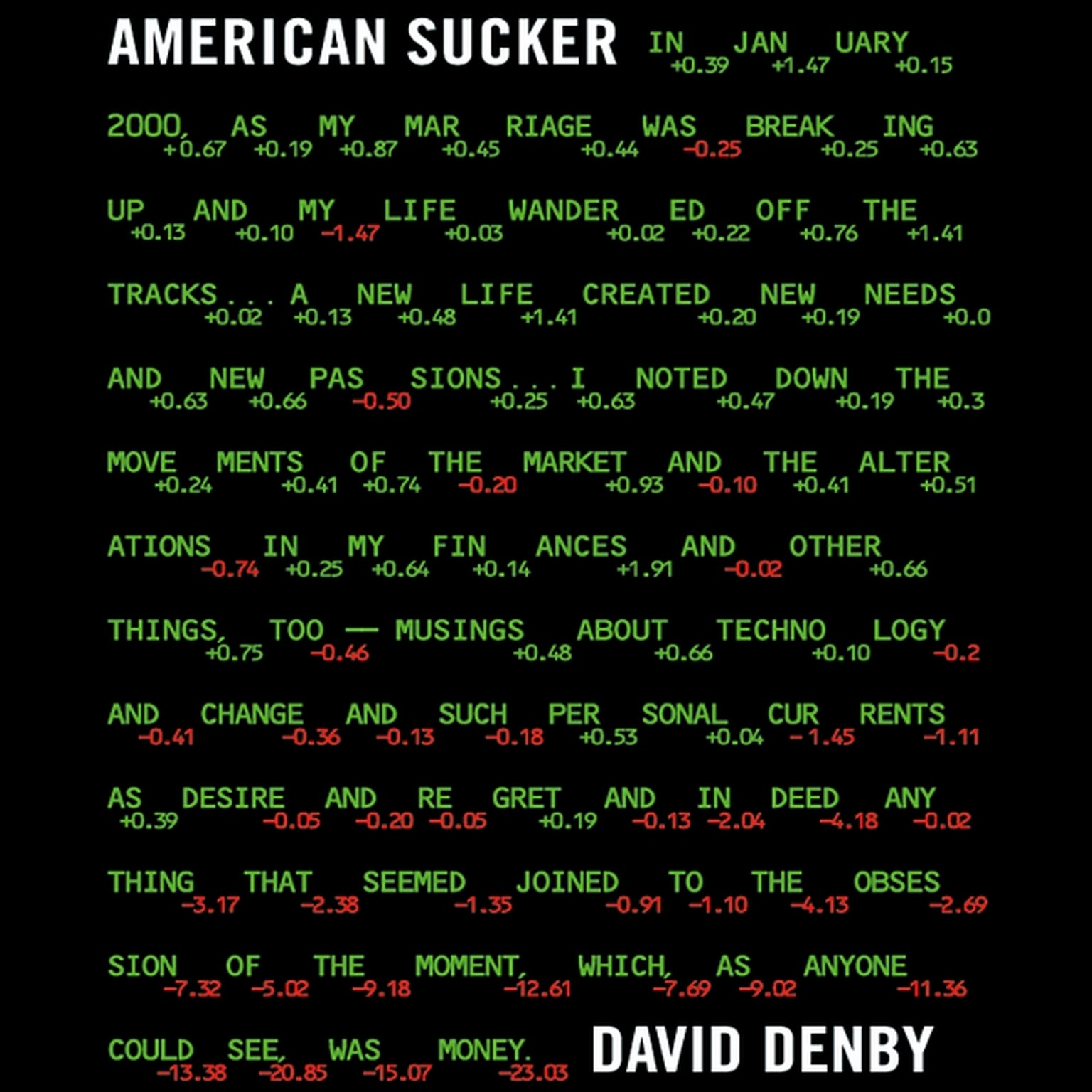 Printable American Sucker Audiobook Cover Art
