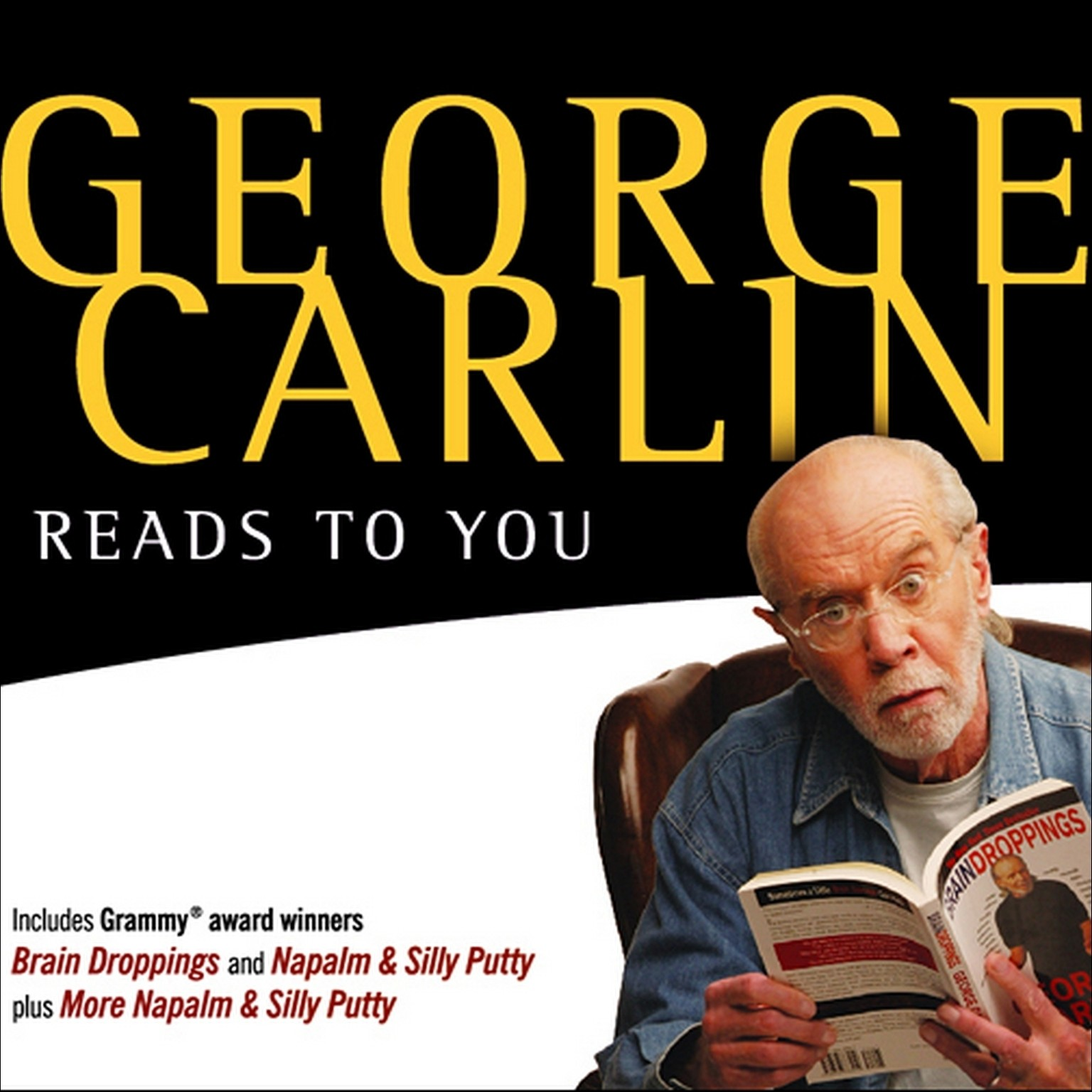 Printable George Carlin Reads to You Audiobook Cover Art