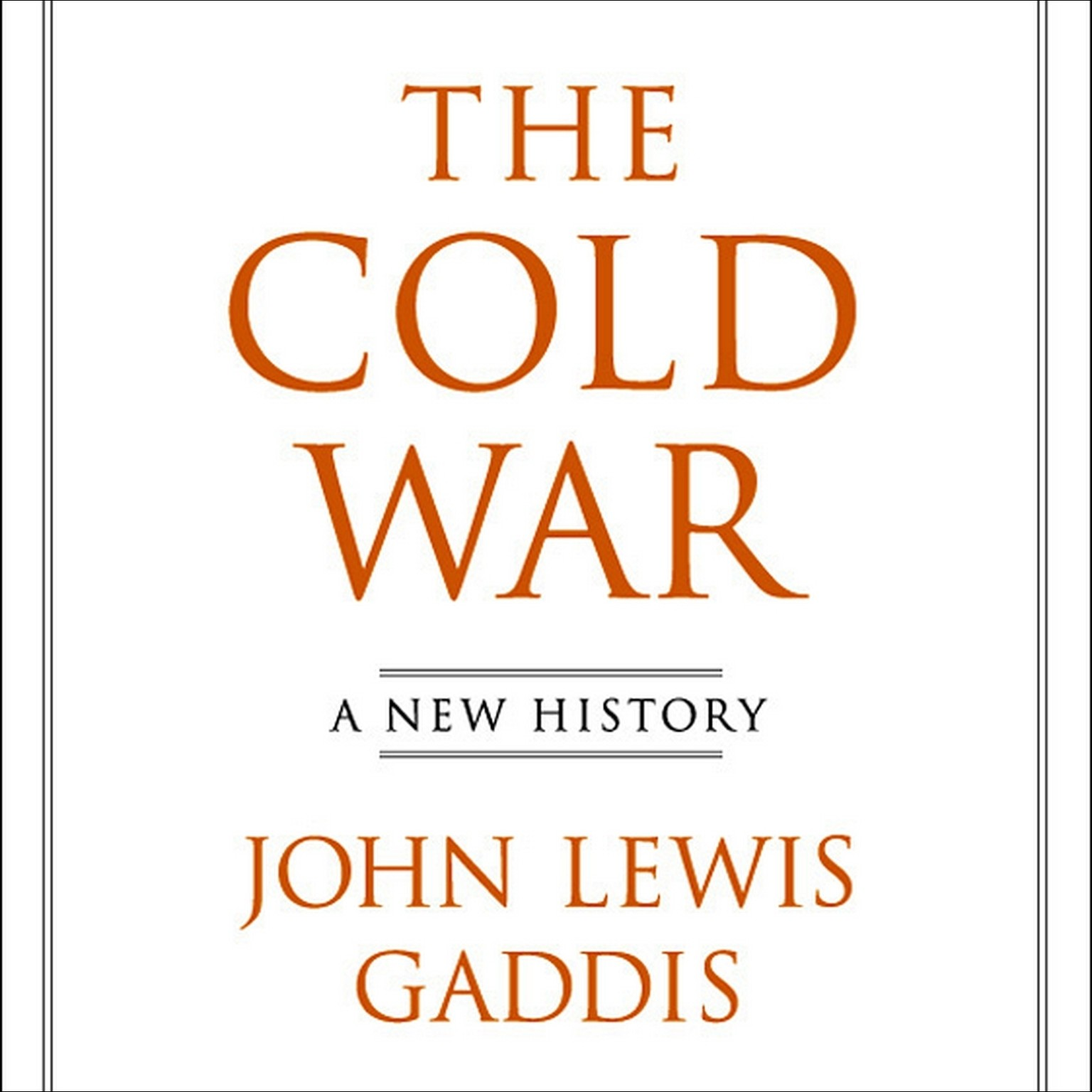 Printable The Cold War: A New History Audiobook Cover Art