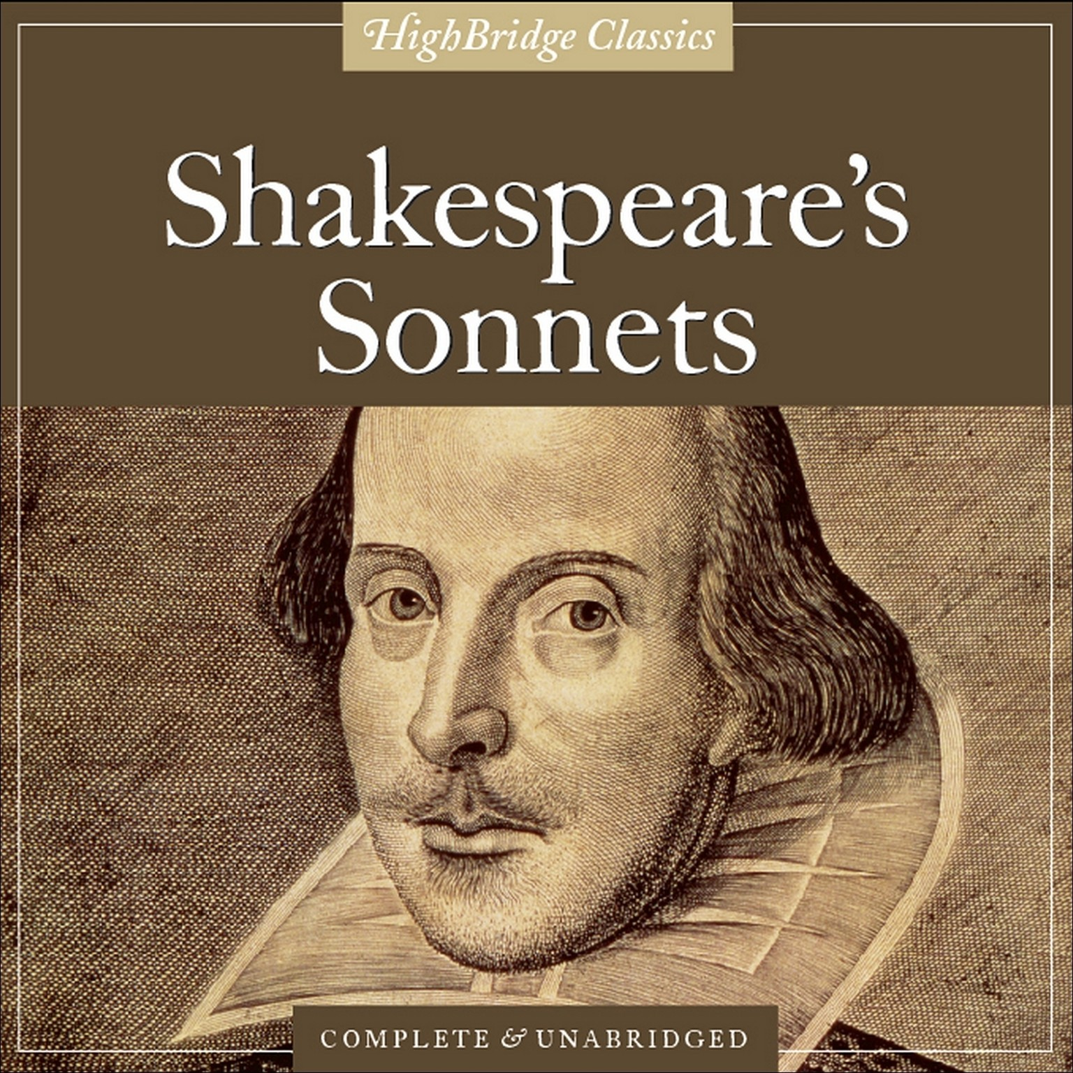 Printable Shakespeare's Sonnets Audiobook Cover Art