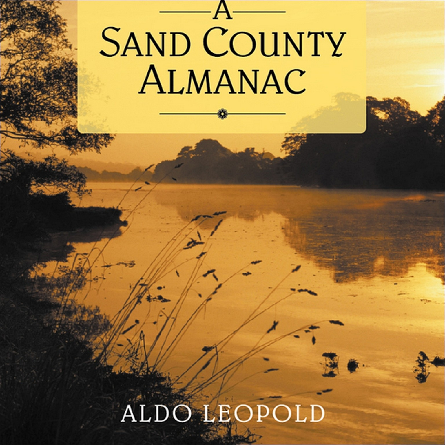 Printable A Sand County Almanac Audiobook Cover Art