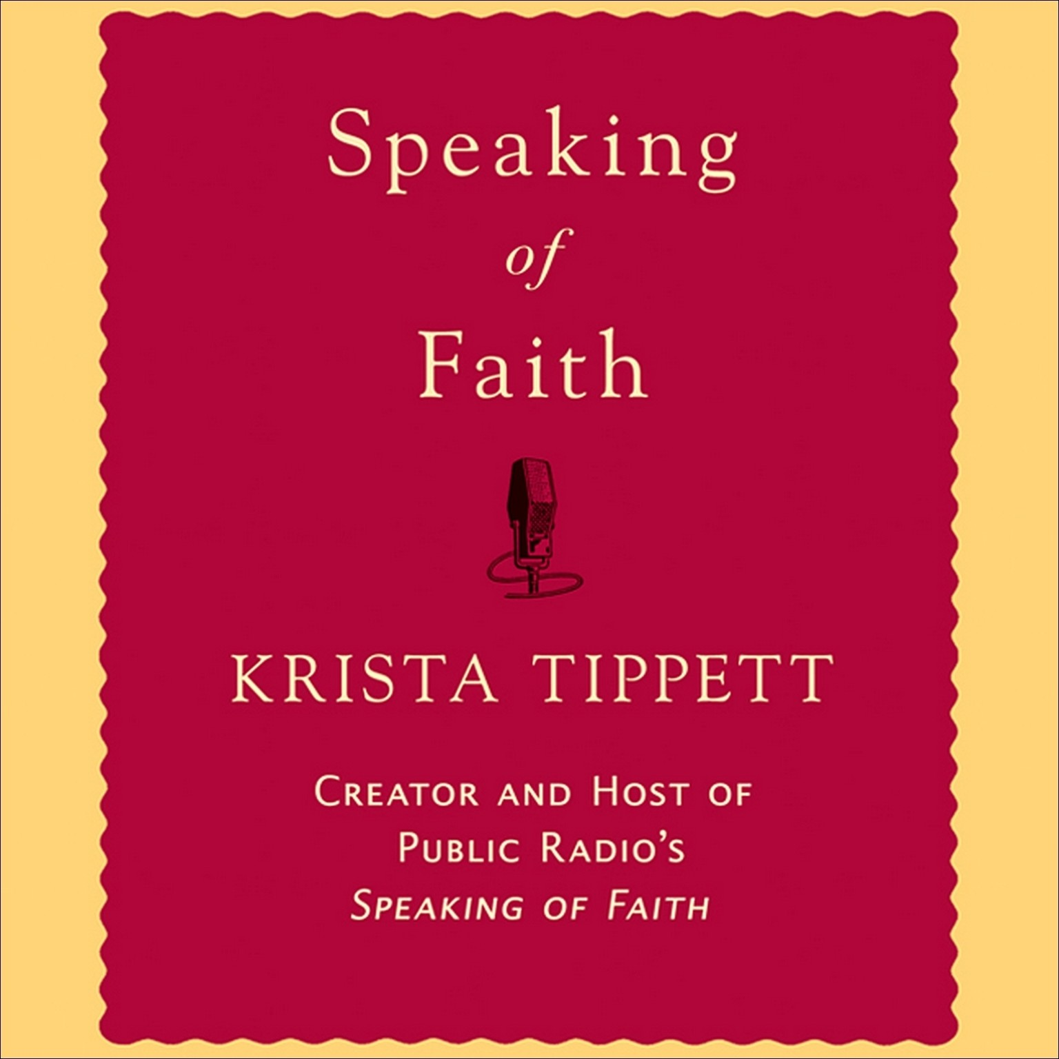 Printable Speaking of Faith Audiobook Cover Art