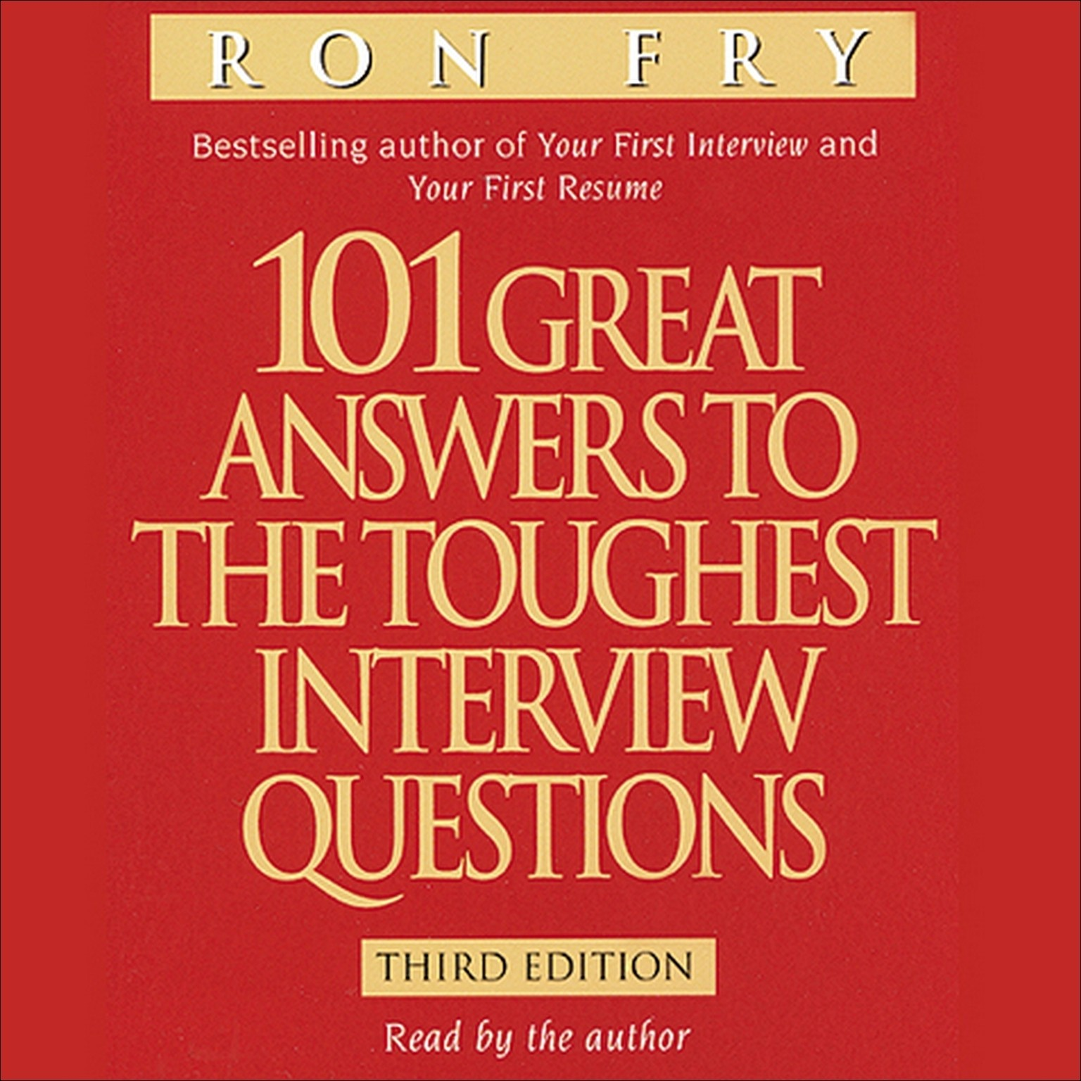Printable 101 Great Answers to the Toughest Interview Questions Audiobook Cover Art
