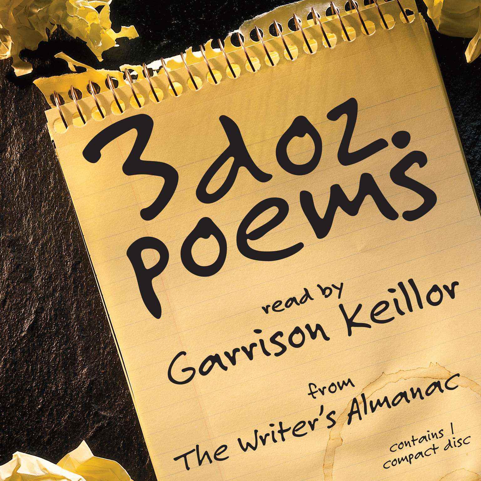 Printable 3 Dozen Poems: From the Writer's Almanac Audiobook Cover Art