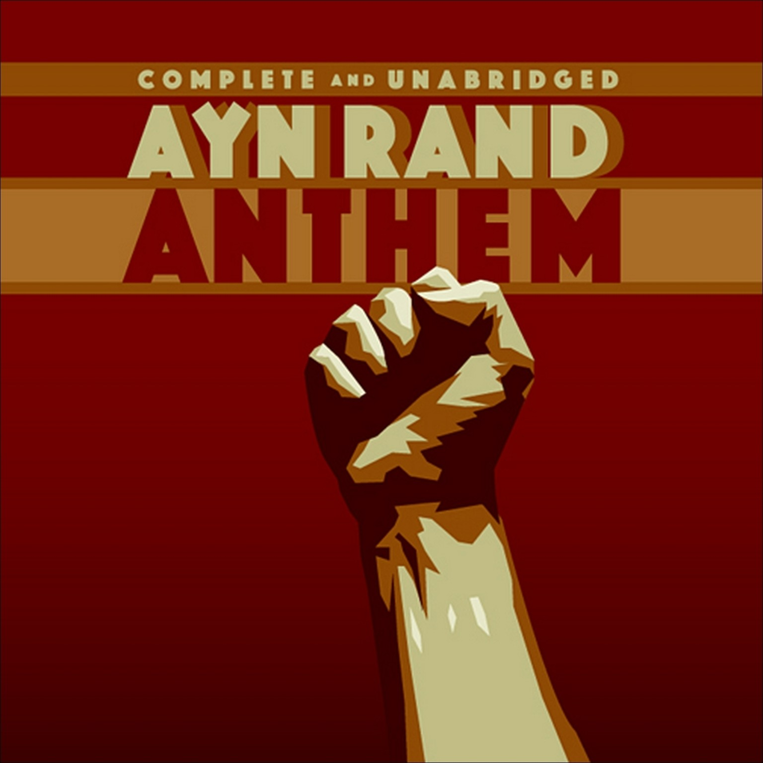 Printable Anthem Audiobook Cover Art