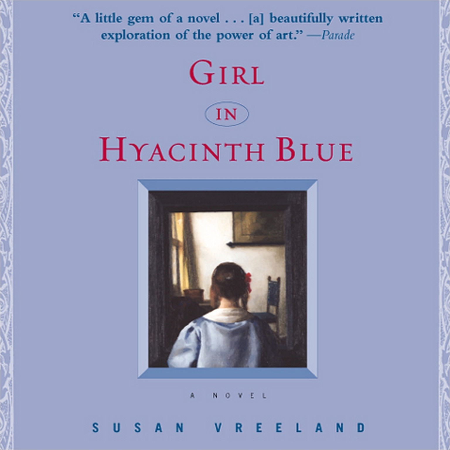 Printable Girl in Hyacinth Blue Audiobook Cover Art