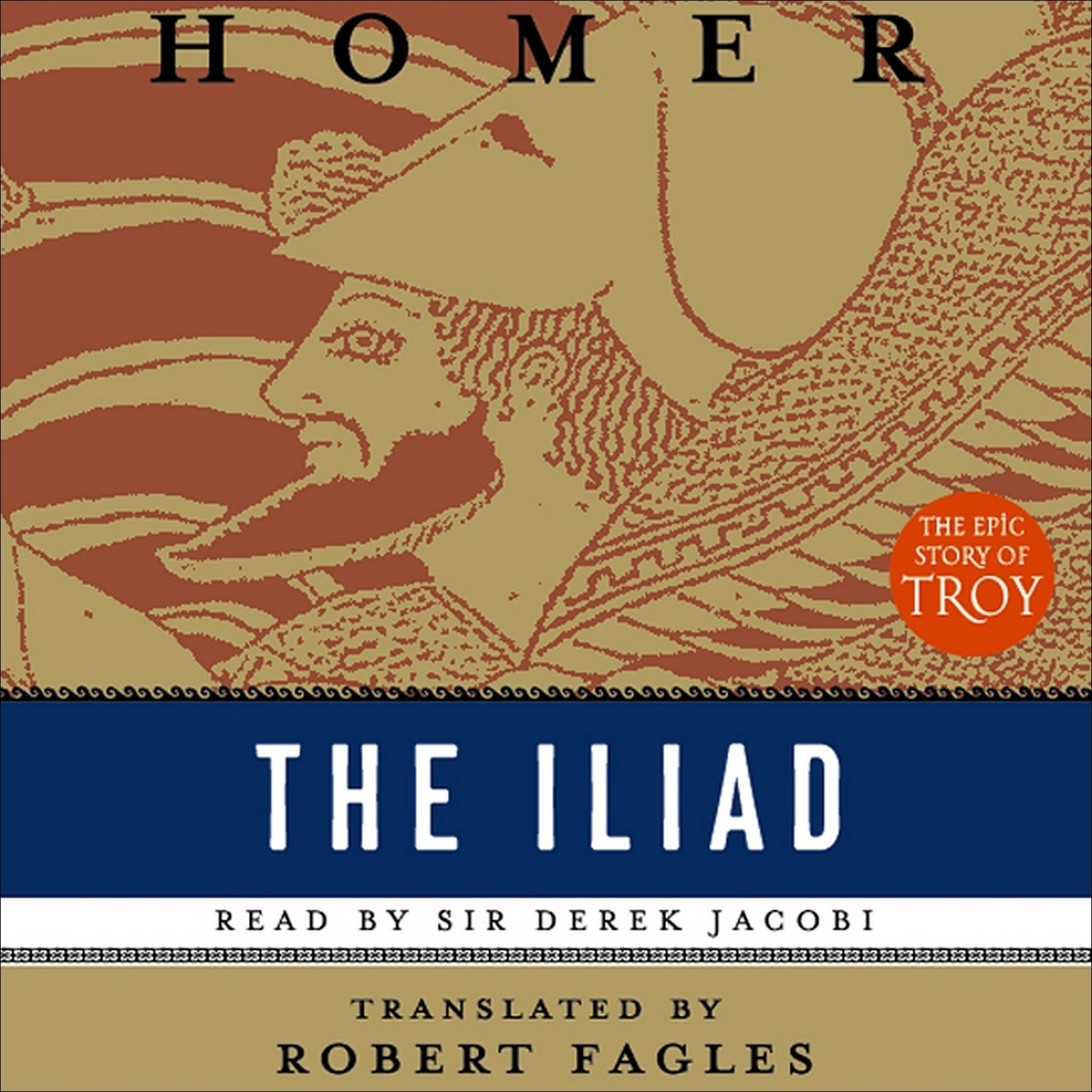 Printable The Iliad: (Penguin Classics Deluxe Edition) Audiobook Cover Art