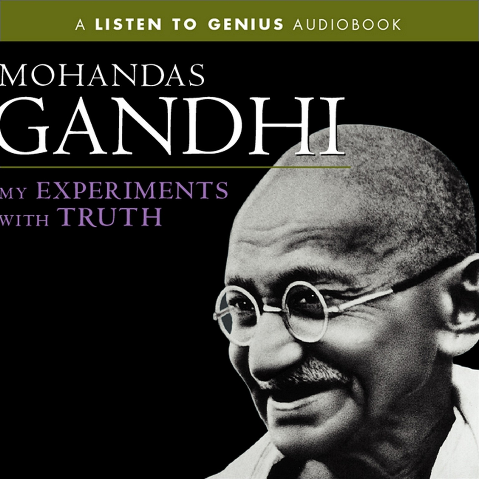 Printable My Experiments with Truth Audiobook Cover Art